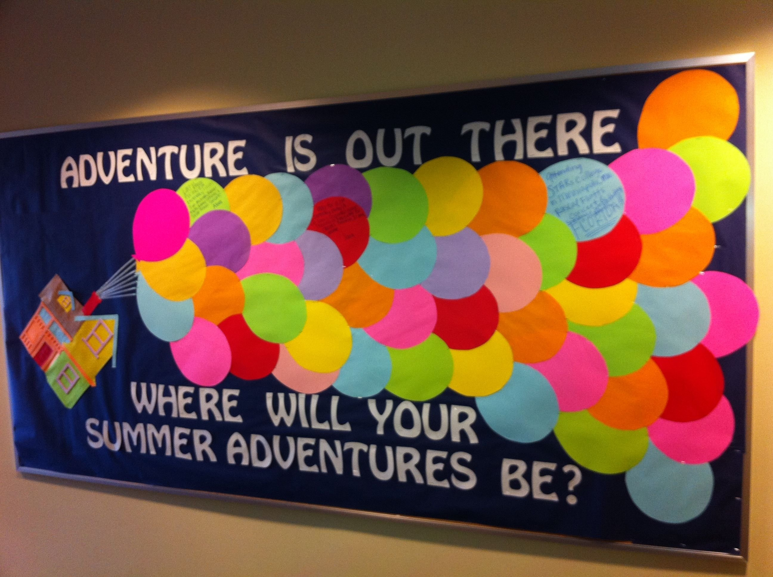 "up"" bulletin board idea for the end of the school year 