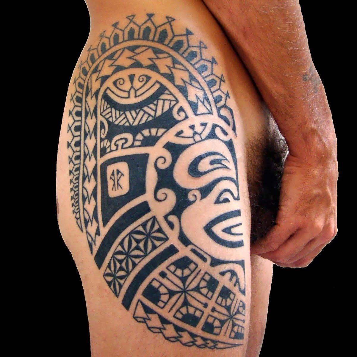 10 Unique Leg Tattoo Ideas For Men upper leg tattoo designs for men upper hand name style tattoo 1 2020
