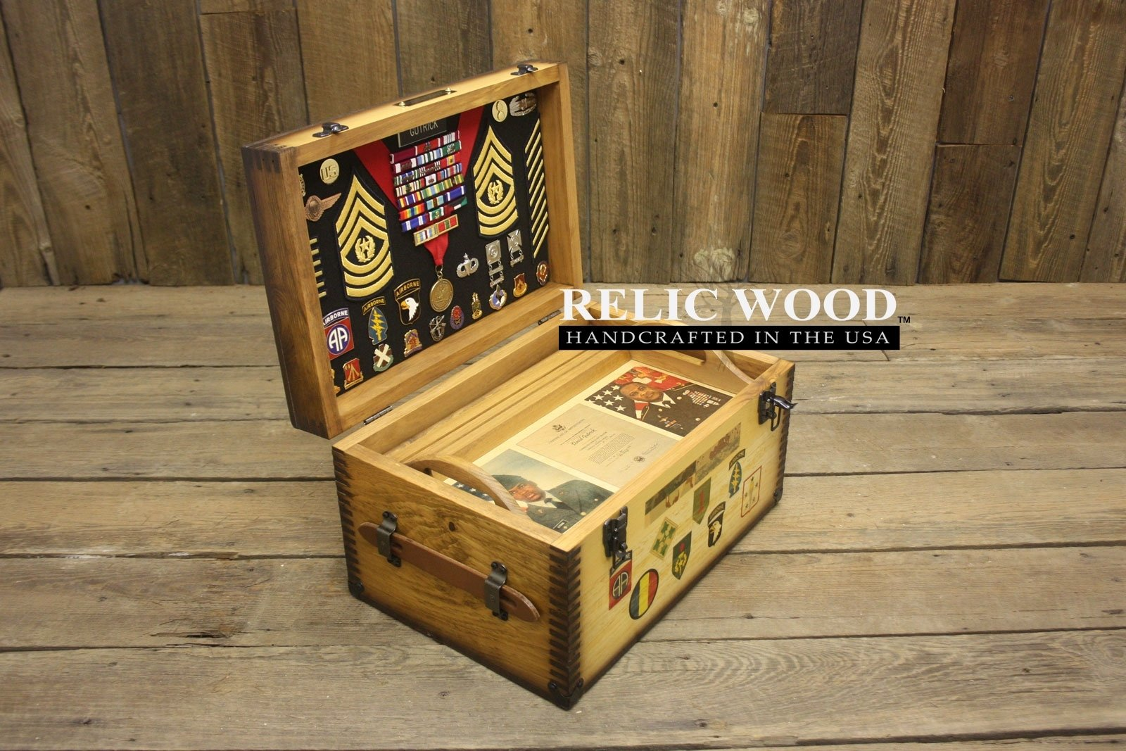 us military retirement gift ideas showcase - relic wood