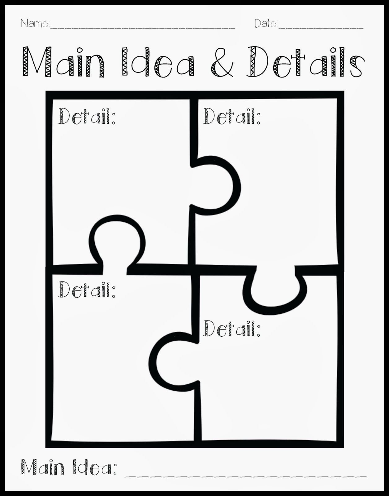 10 Amazing Main Idea And Details Organizer using a puzzle to teach main idea and details the art of language 9 2020