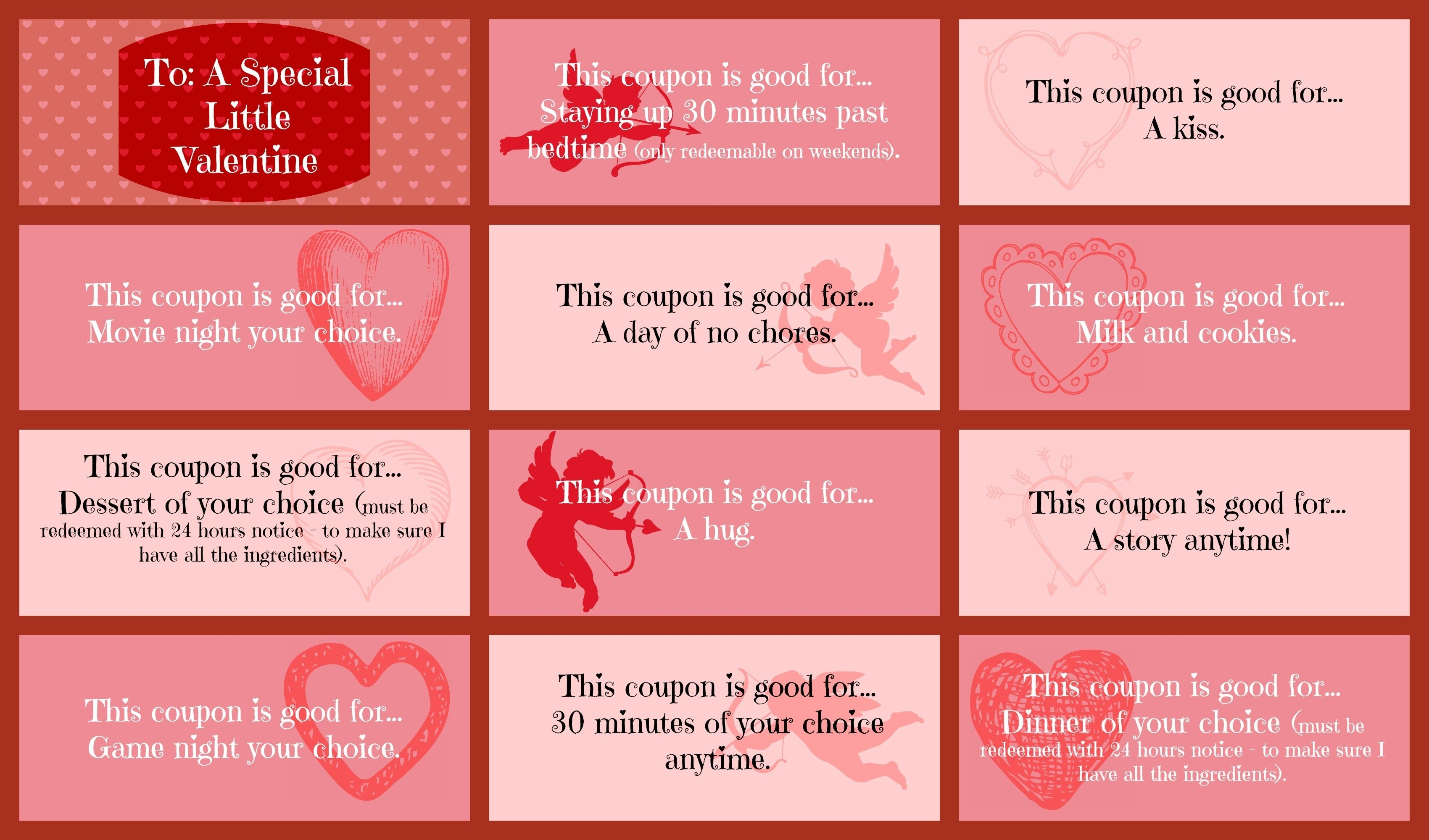 10 Attractive Valentine Coupon Book Ideas For Guys valentine day coupon book ideas startupcorner co 1