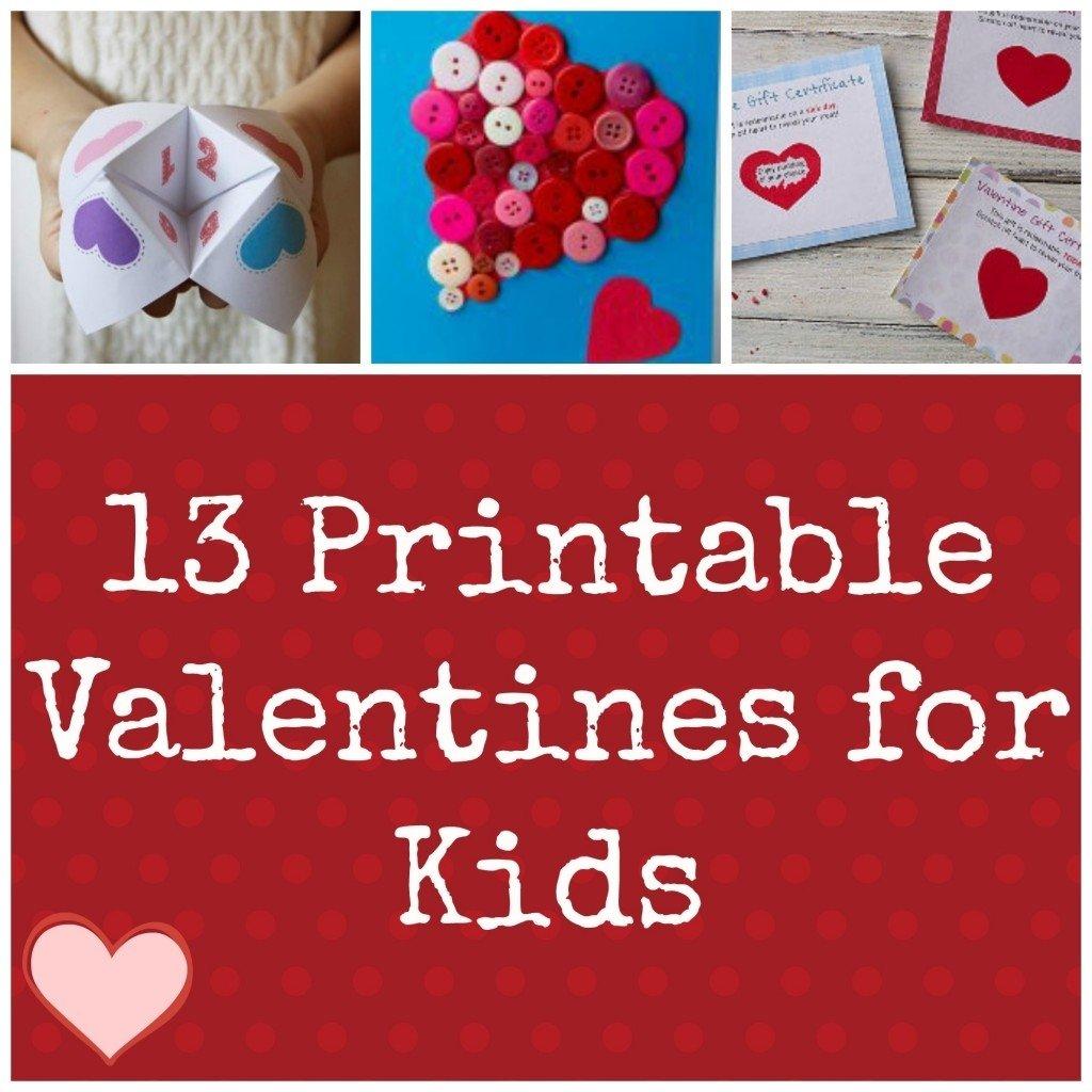 10 Attractive Valentine Card Ideas For Kids valentine ideas for kids 13 printable valentines holidays craft 2020