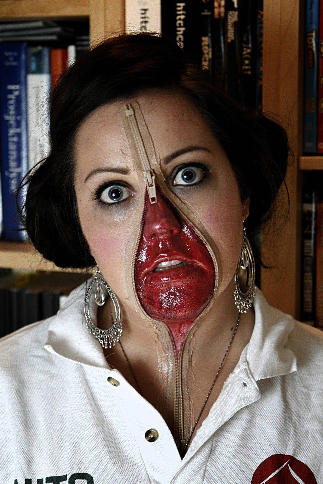 10 Unique Homemade Scary Halloween Costume Ideas valentine one halloween makeup