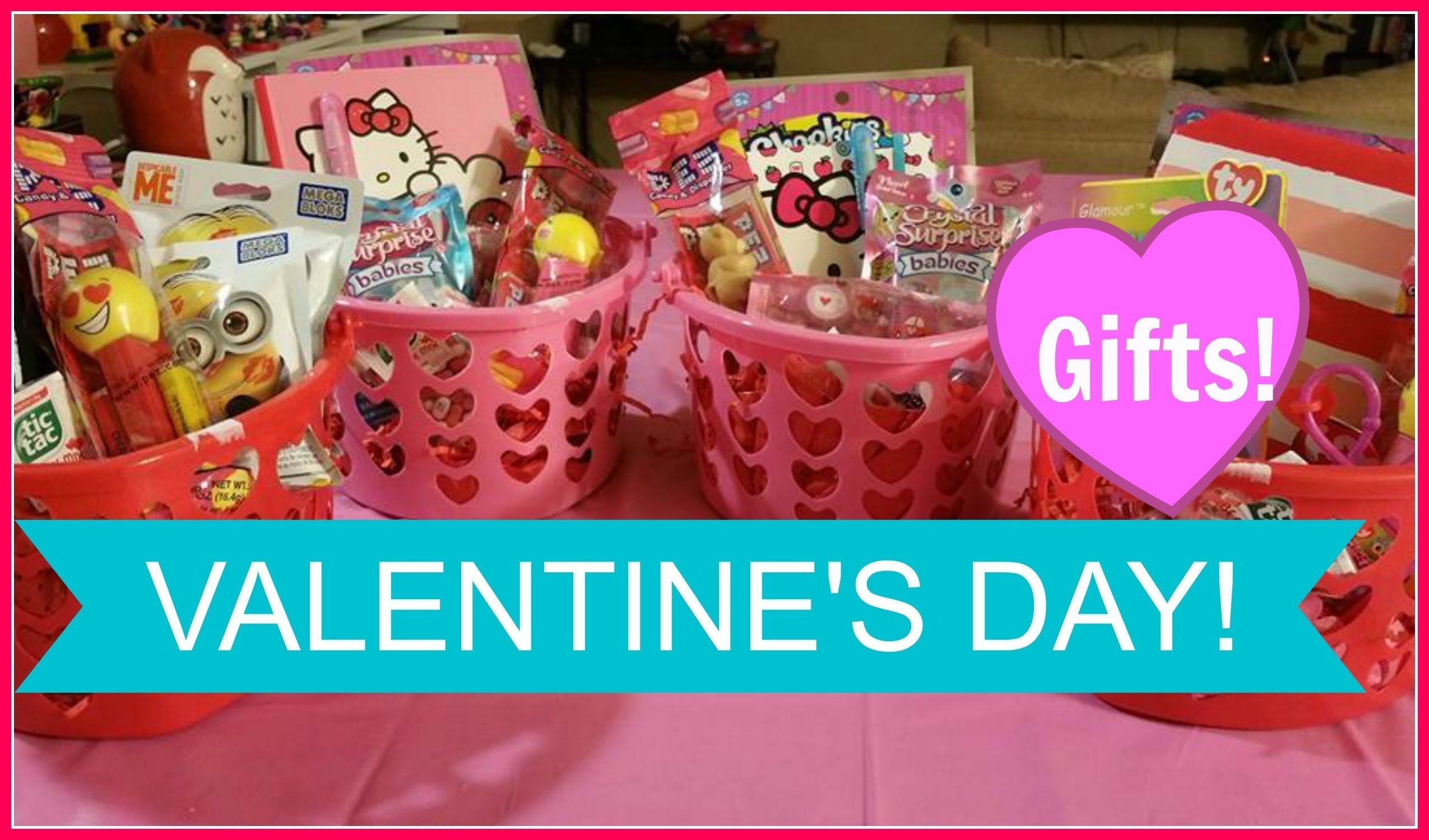valentine's day basket for kids / valentine's gift ideas for kids