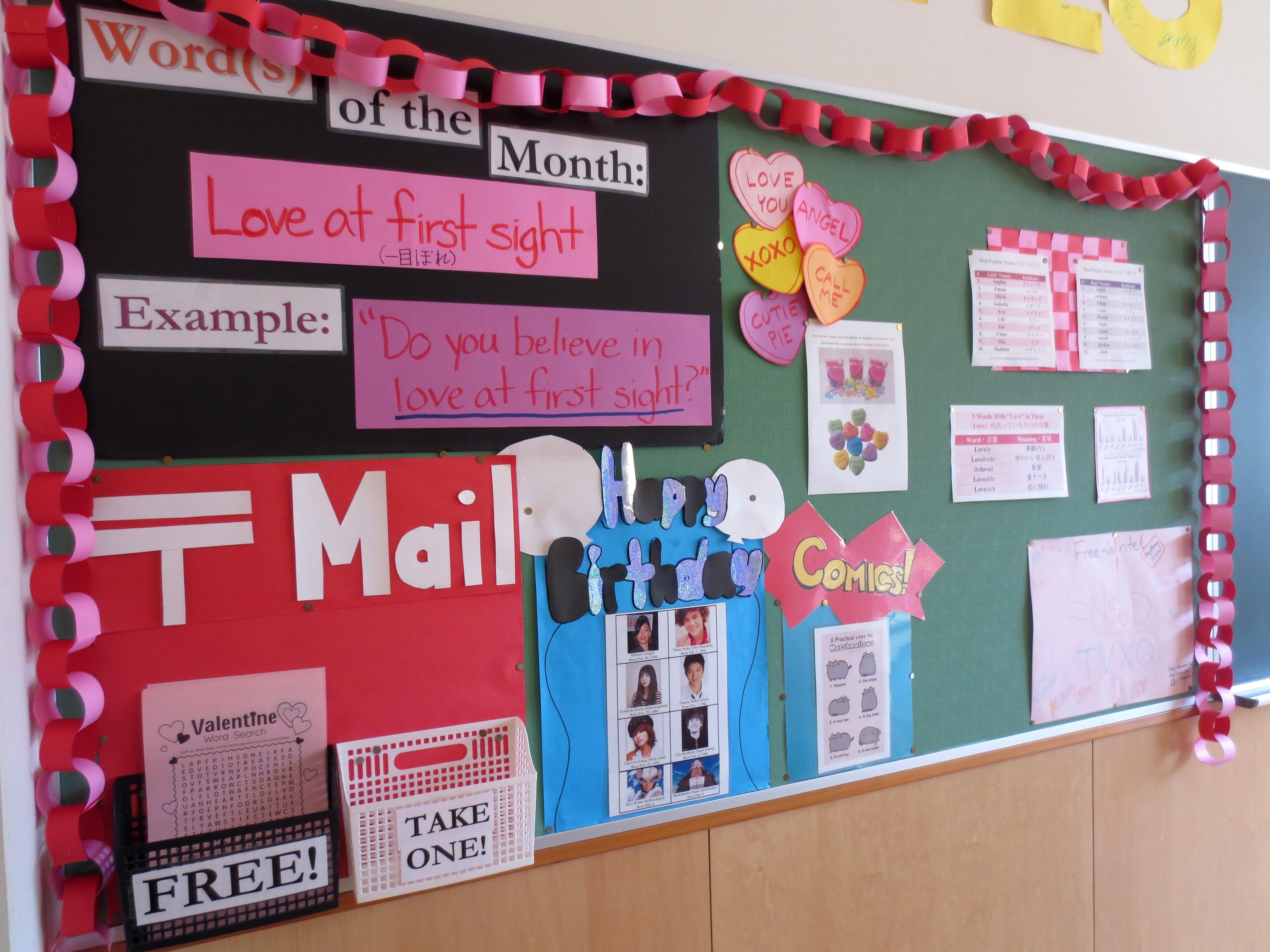 10 Ideal Sunday School Bulletin Board Ideas valentines day bulletin board e7b4a0e695b5e381aae383a9e382a4e38395 2021