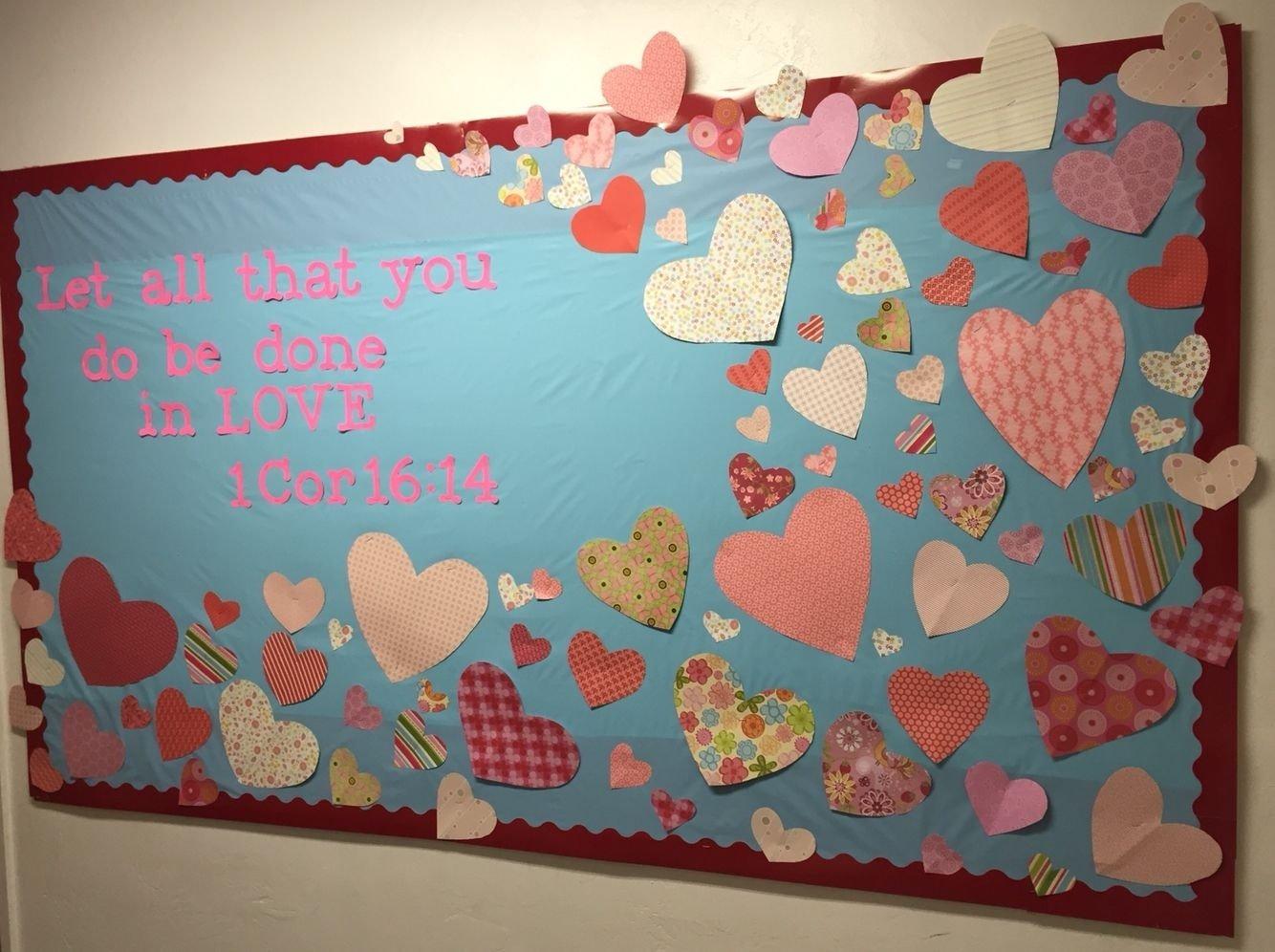valentine's day bulletin board for sunday school or church