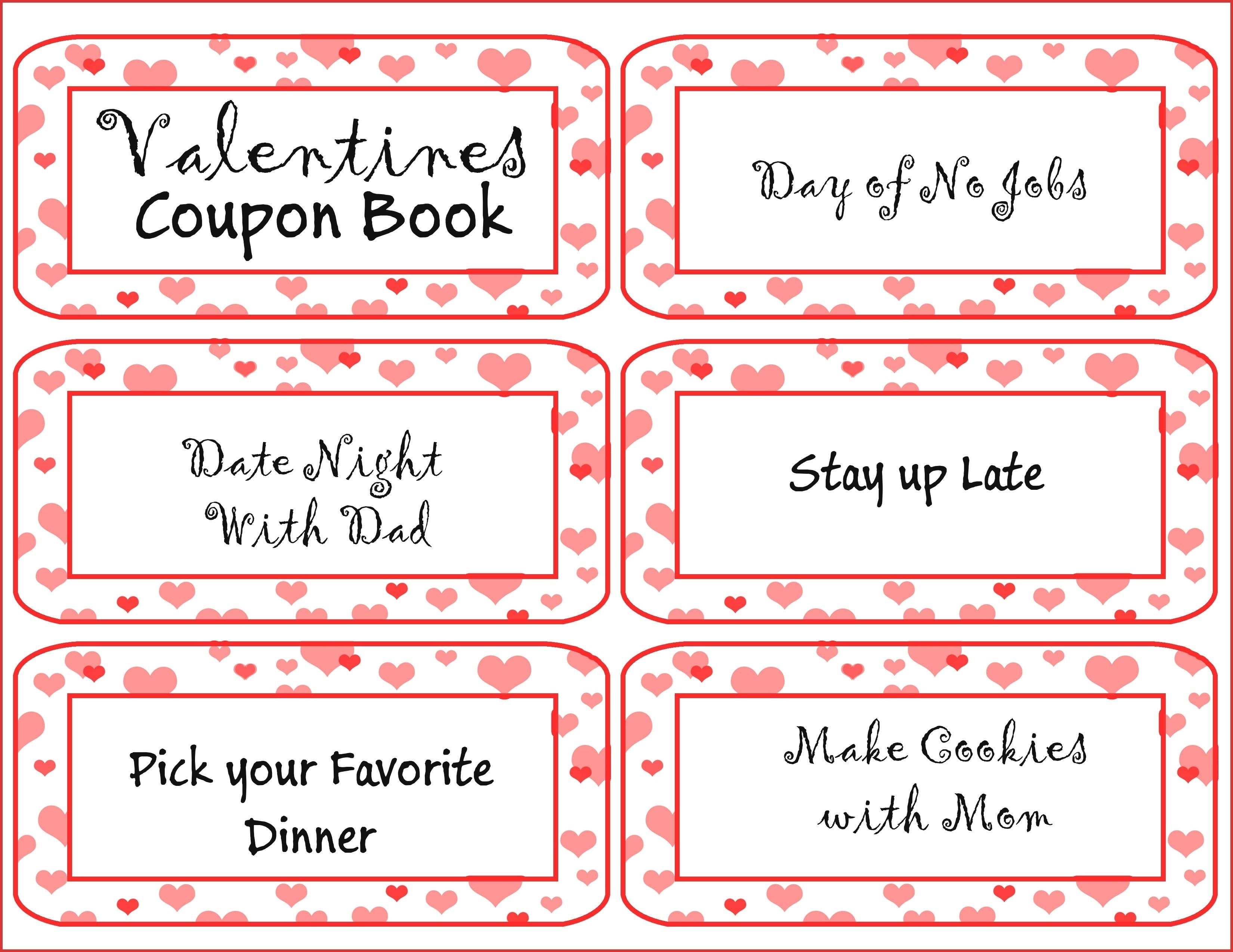 10 Nice Valentine Day Coupon Book Ideas