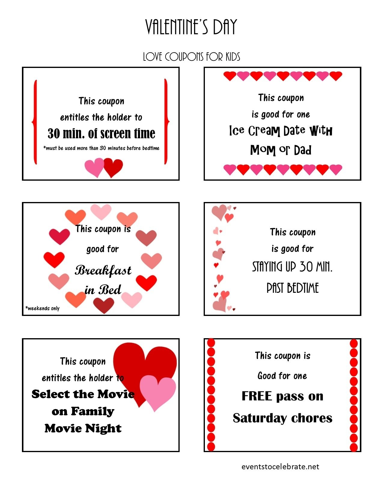10 Attractive Valentine Coupon Book Ideas For Guys valentines day coupon book template for boyfriend freebies journalism