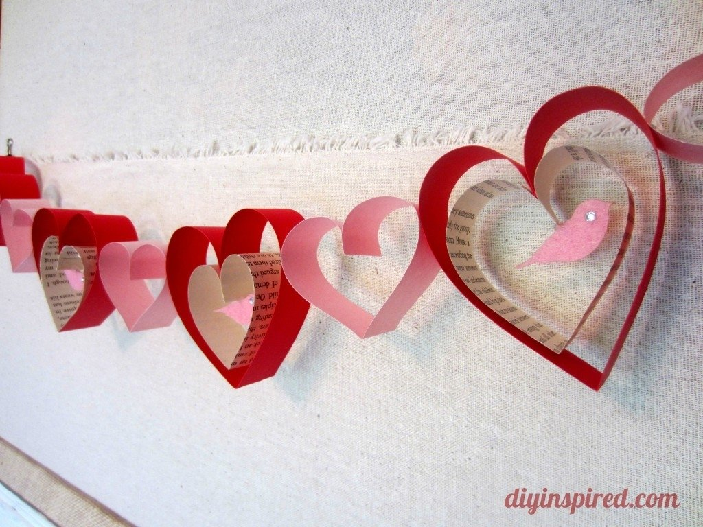 10 Amazing Crafts For Valentines Day Ideas valentines day craft diy garland diy garland garlands and craft 2020
