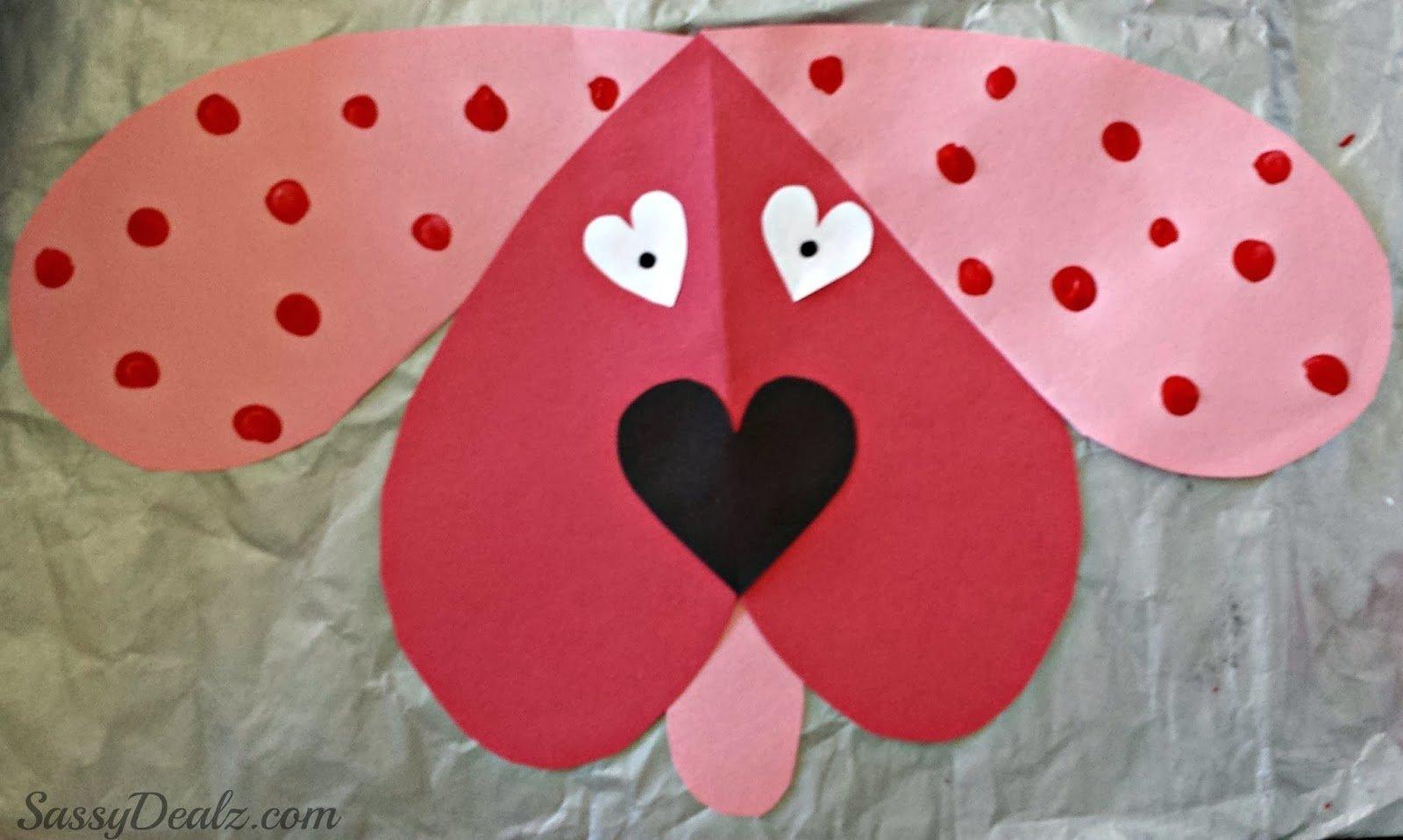 valentines day craft kids sassy dealz cute dog - tierra este   #11376