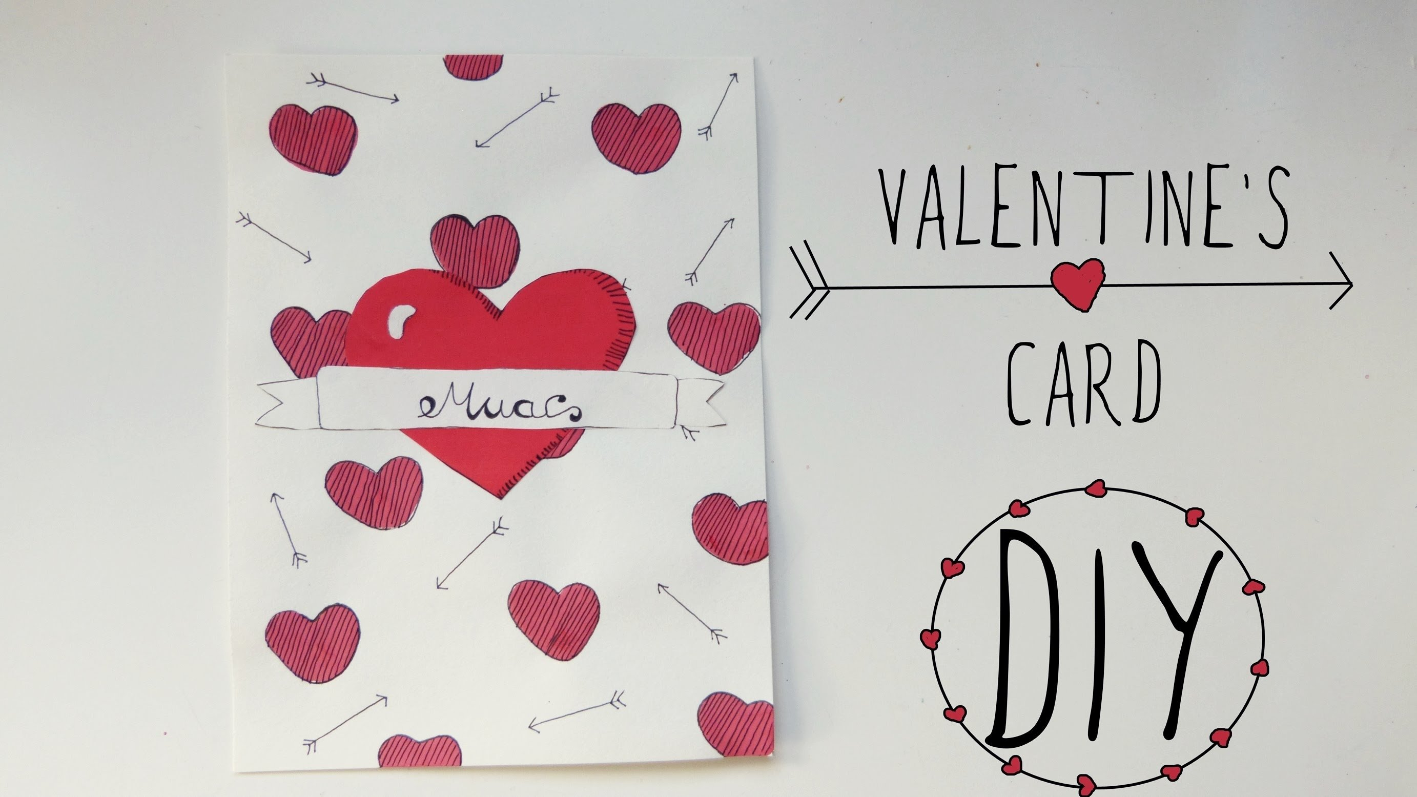valentine's day crafts: love card | handmade gift for boyfriend