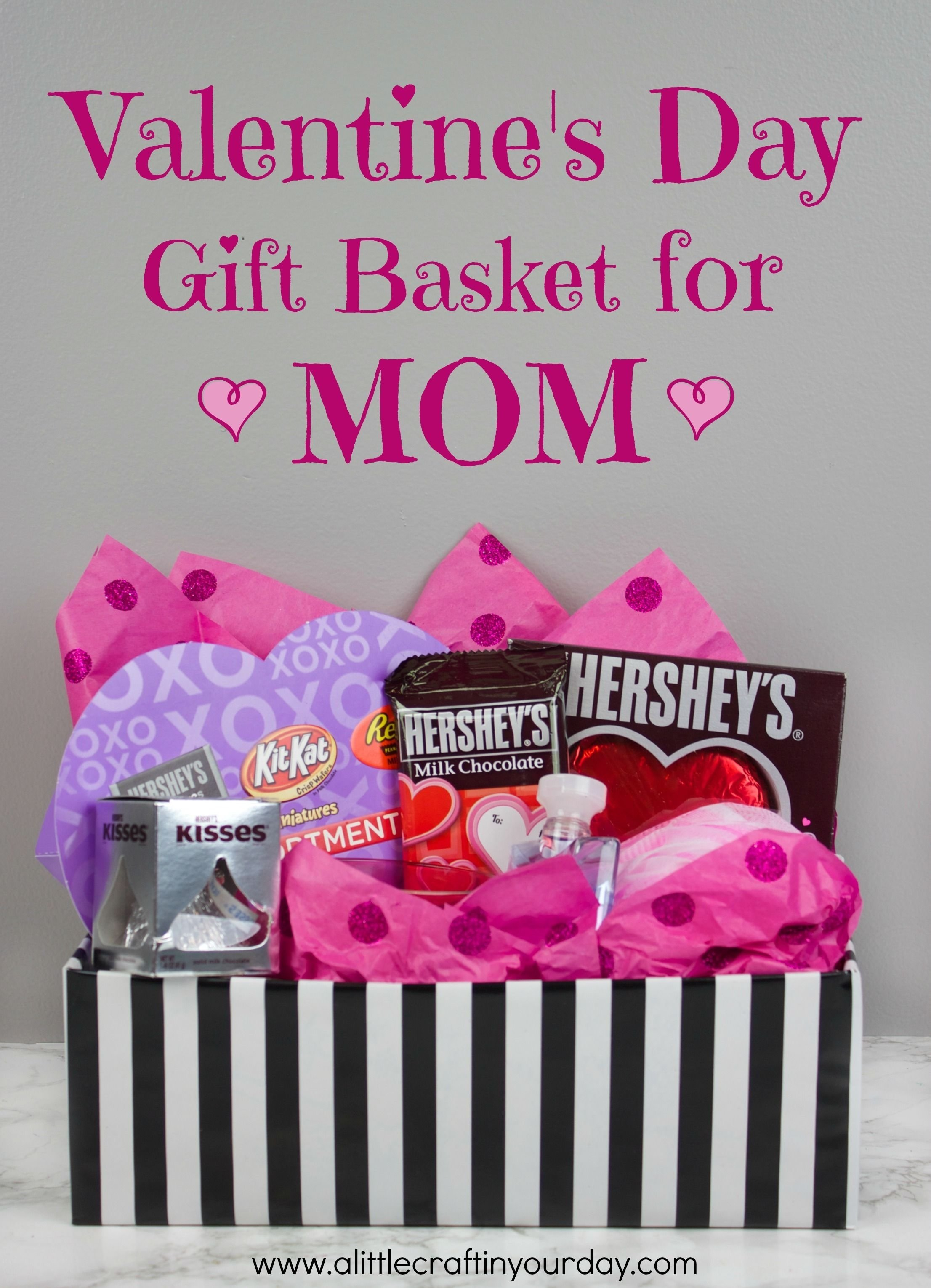 valentine's day gift basket for mom | gift, valentine baskets and