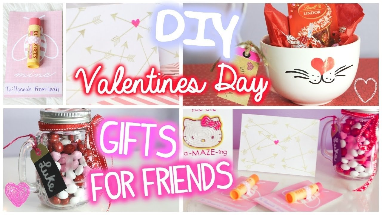 valentines day gifts for friends! // 5 diy ideas - youtube