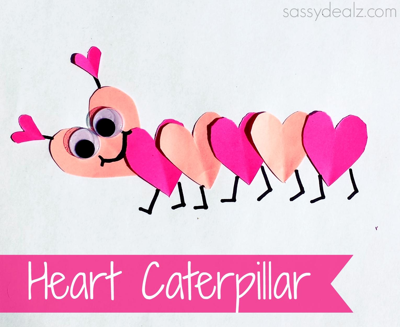 10 Best Valentine Craft Ideas For Kids valentines day heart caterpillar craft for kids crafty morning 2021