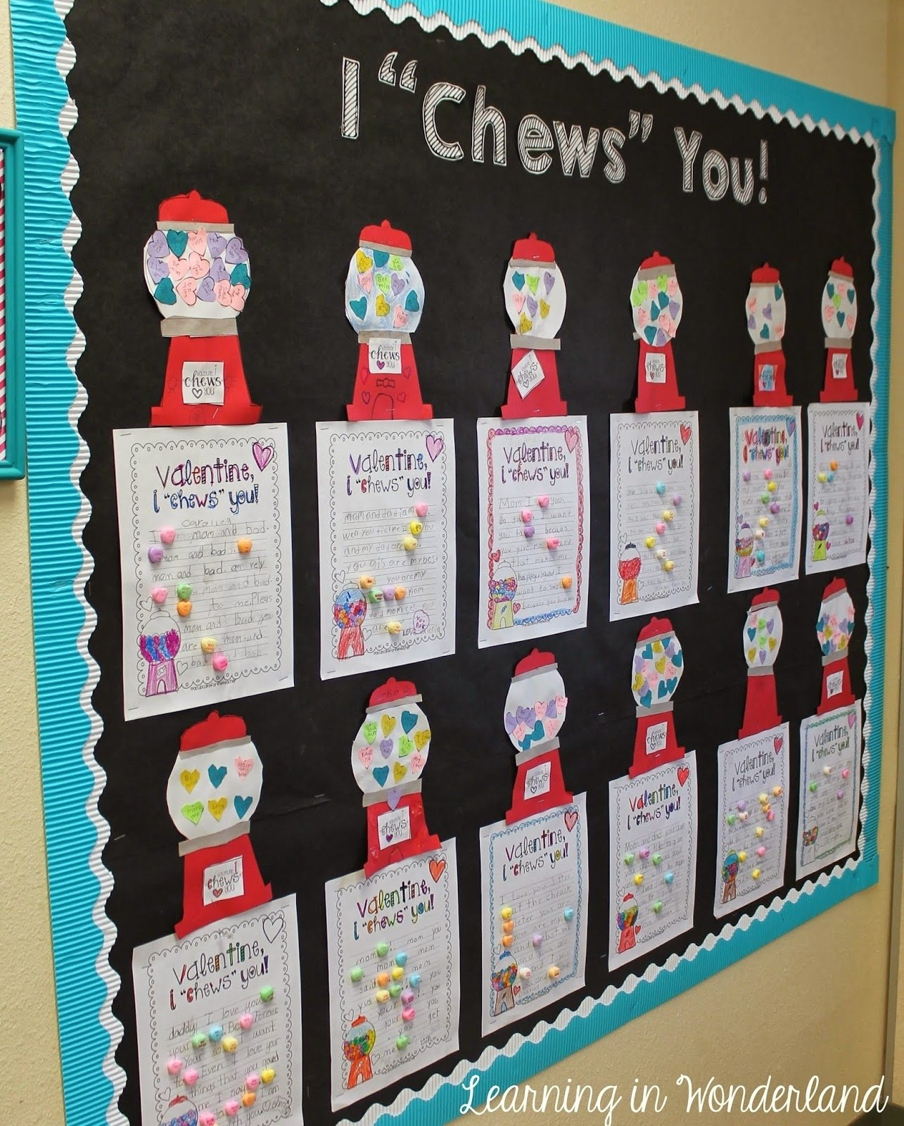 10 Pretty Valentine Bulletin Board Ideas Teachers valentines day ideas and more learning in wonderland 2