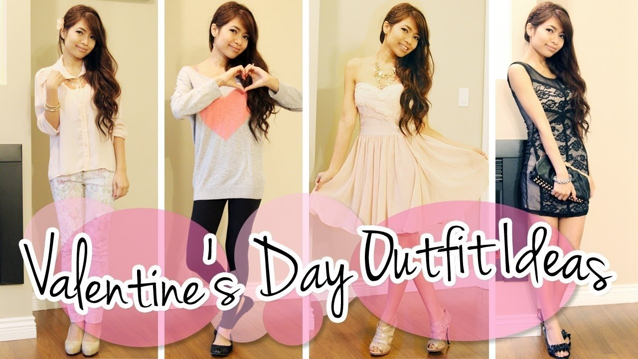 valentine's day outfit ideas lookbook - youtube