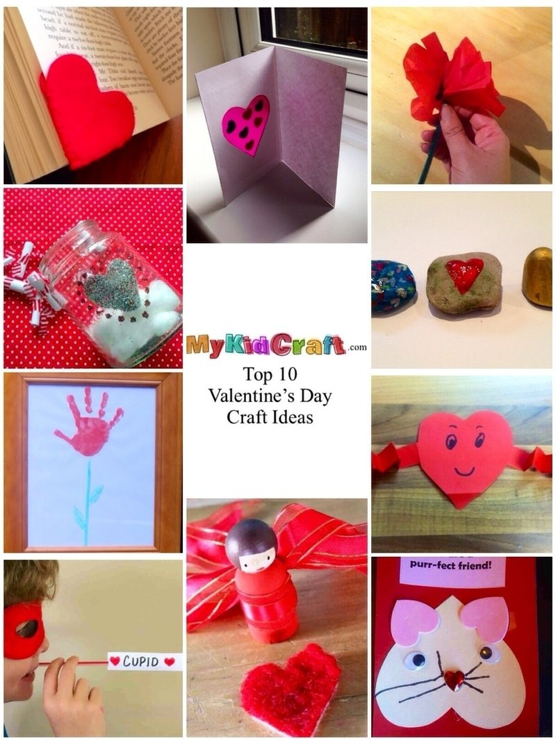 10 Attractive Craft Ideas For Valentines Day valentines day valentines day craft ideas for kids homemade 1 2020