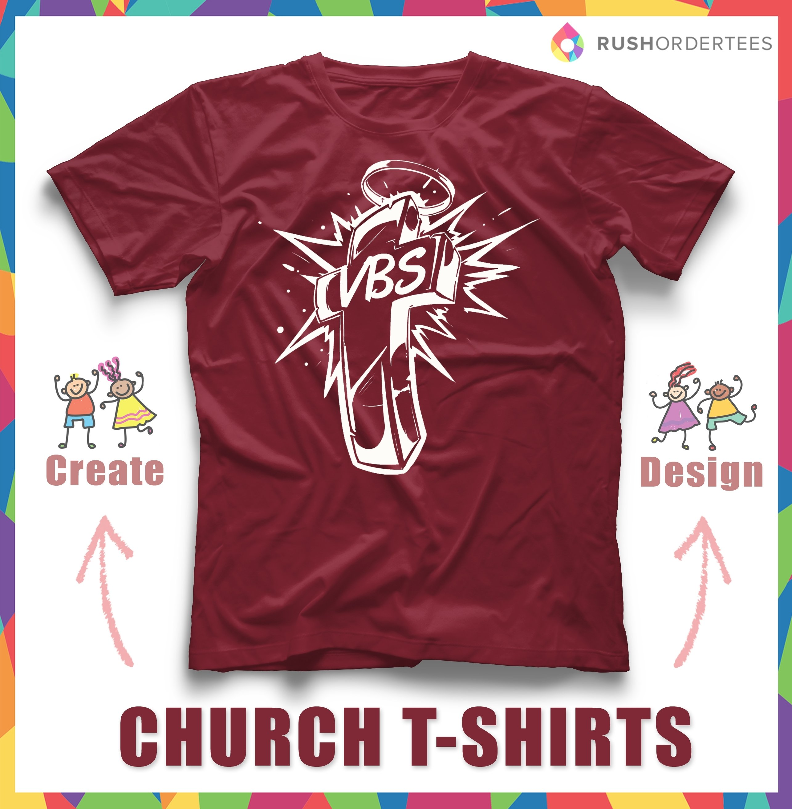 vbs vacation bible school t-shirt designs for your custom church