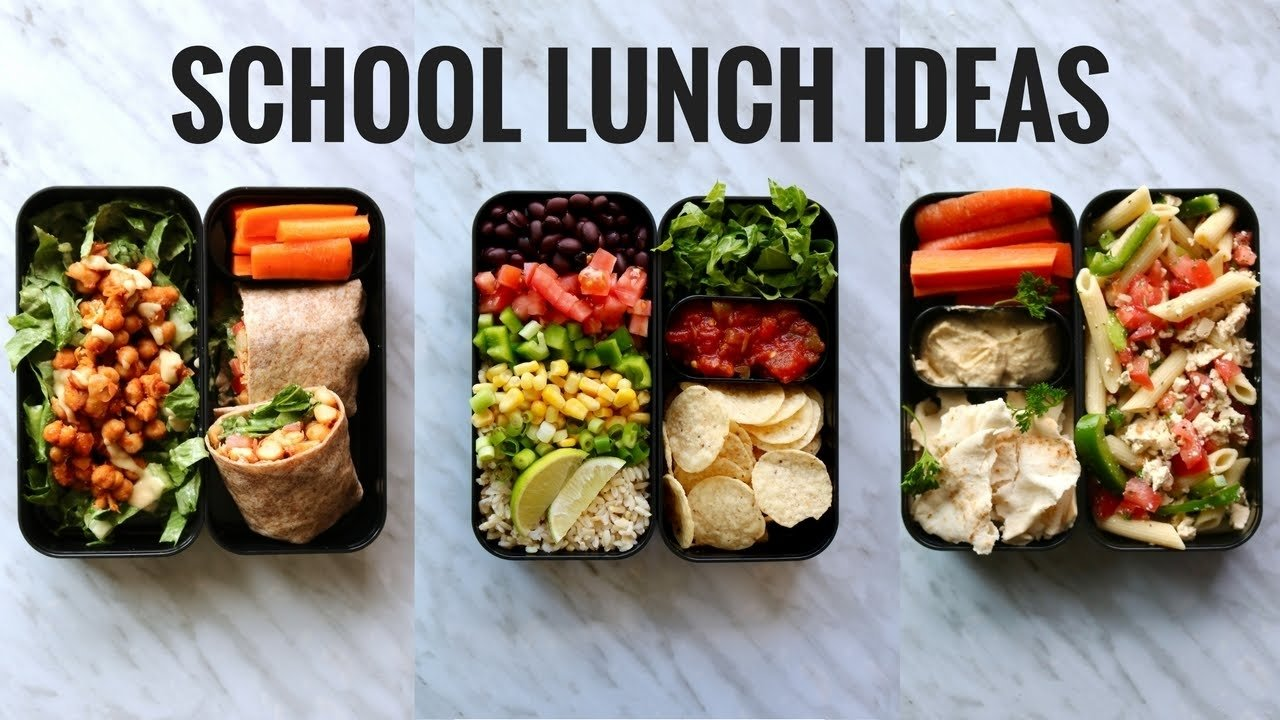 10 Great School Lunch Ideas For High Schoolers vegan school lunch ideas bento box youtube 2021