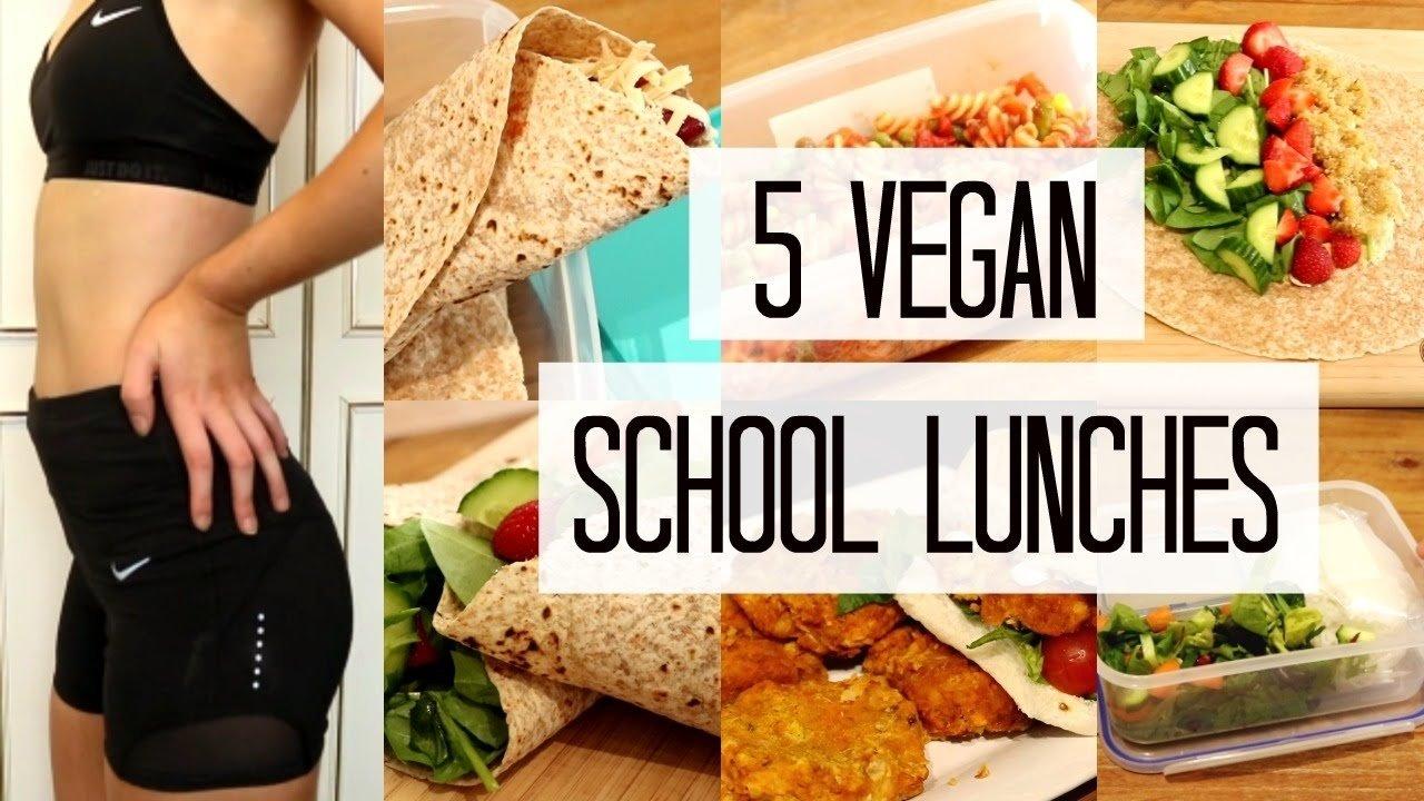 10 Stylish Lunch Ideas For High School vegan school lunch ideas healthy easy youtube 2020