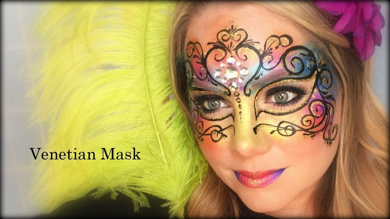 10 Wonderful Mardi Gras Face Painting Ideas venetian mask face painting and makeup youtube 2020