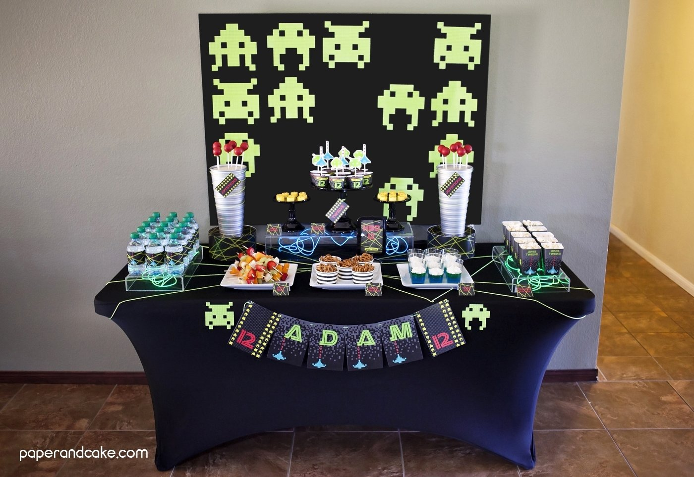 10 Lovely Video Game Birthday Party Ideas video game birthday party paper and cake paper and cake 2020