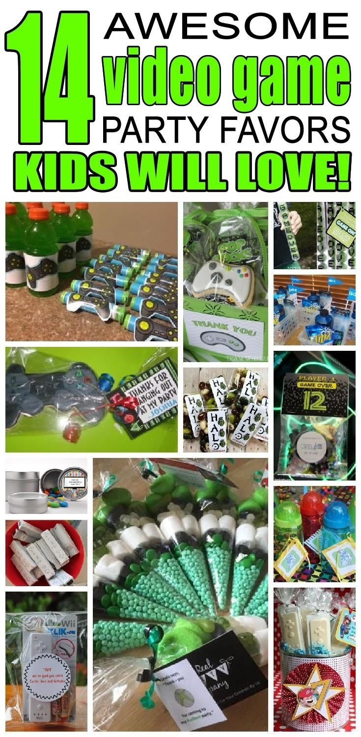 video game party favor ideas | video game party, party favour ideas