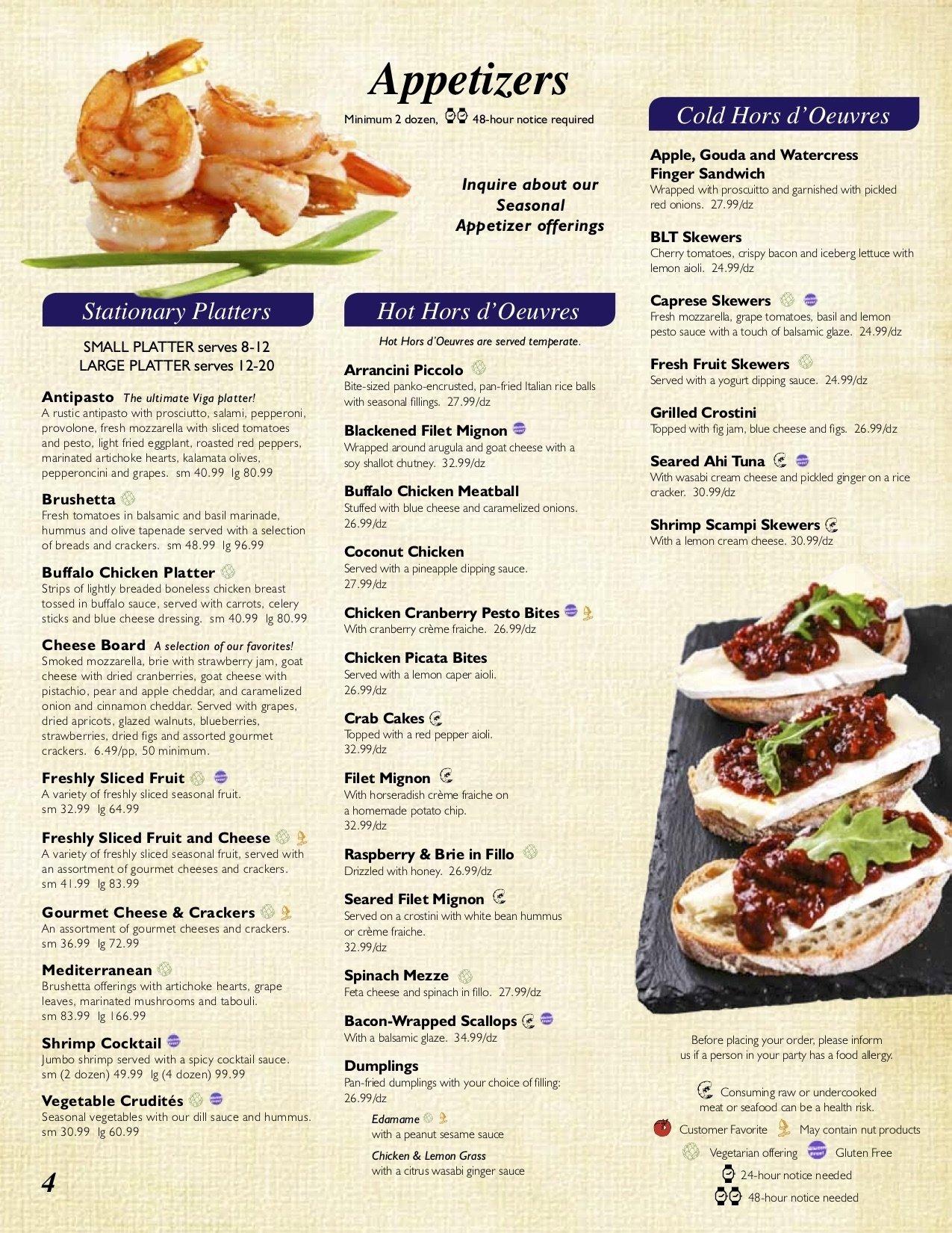 10 Cute Catering Menus And Prices Ideas viga corporate catering menu and ideas boston