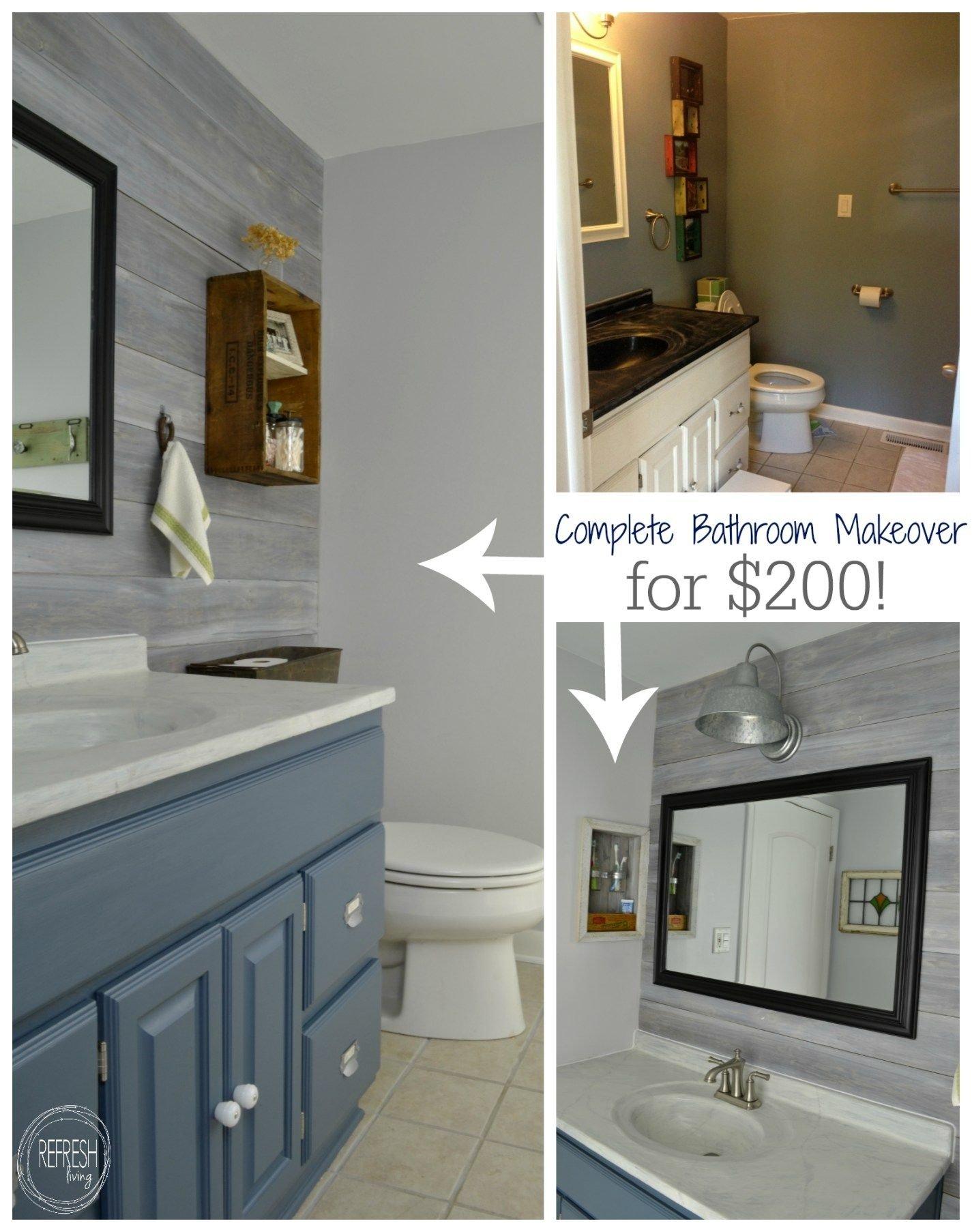 vintage rustic industrial bathroom reveal | budget bathroom remodel