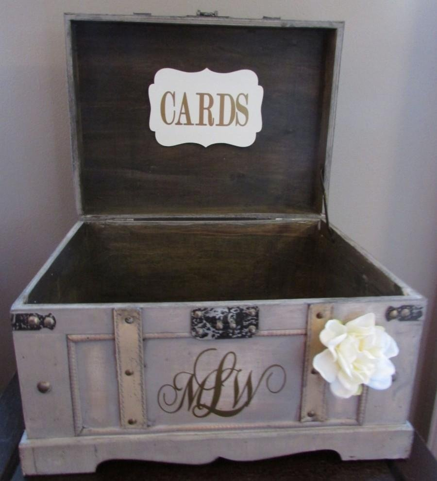 10 Most Popular Card Box Ideas For Wedding vintage wedding card box extra large rustic wedding card box 1 2020