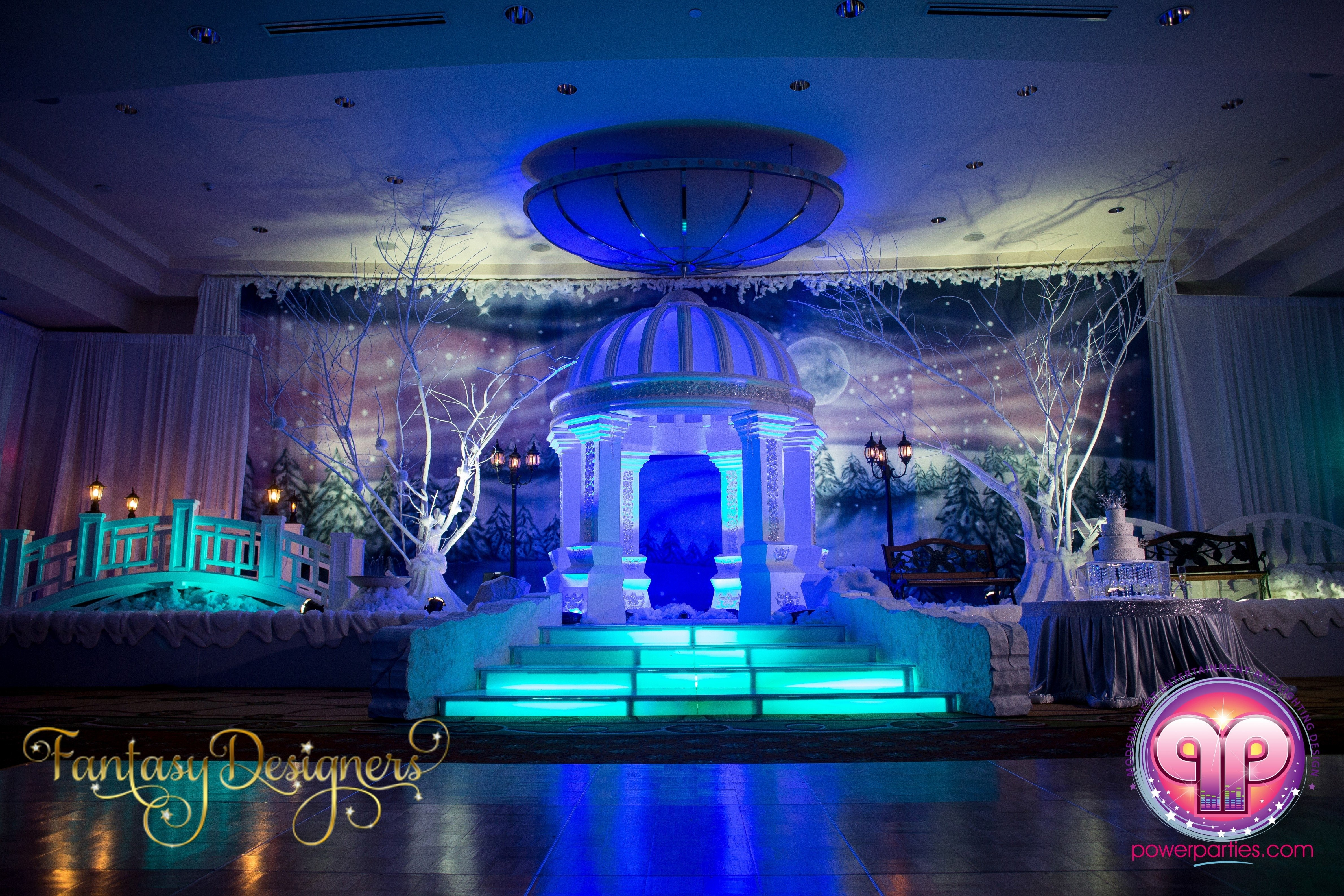 10 Cute Sweet 16 Ideas For Winter vip quince in miami florida winter wonderland theme stage power 1 2020