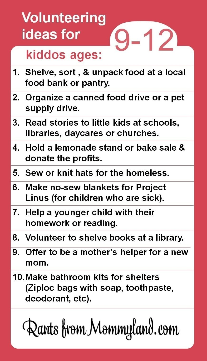 10 Stylish Community Service Ideas For Highschool Students volunteer and service ideas for kiddos ages 9 12 kids can do a lot 6 2020
