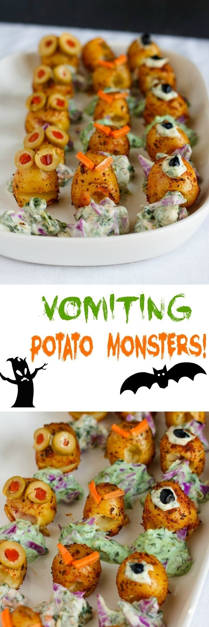 10 Ideal Halloween Food Ideas For Adults vomiting potato monsters for halloween recipe halloween 2020