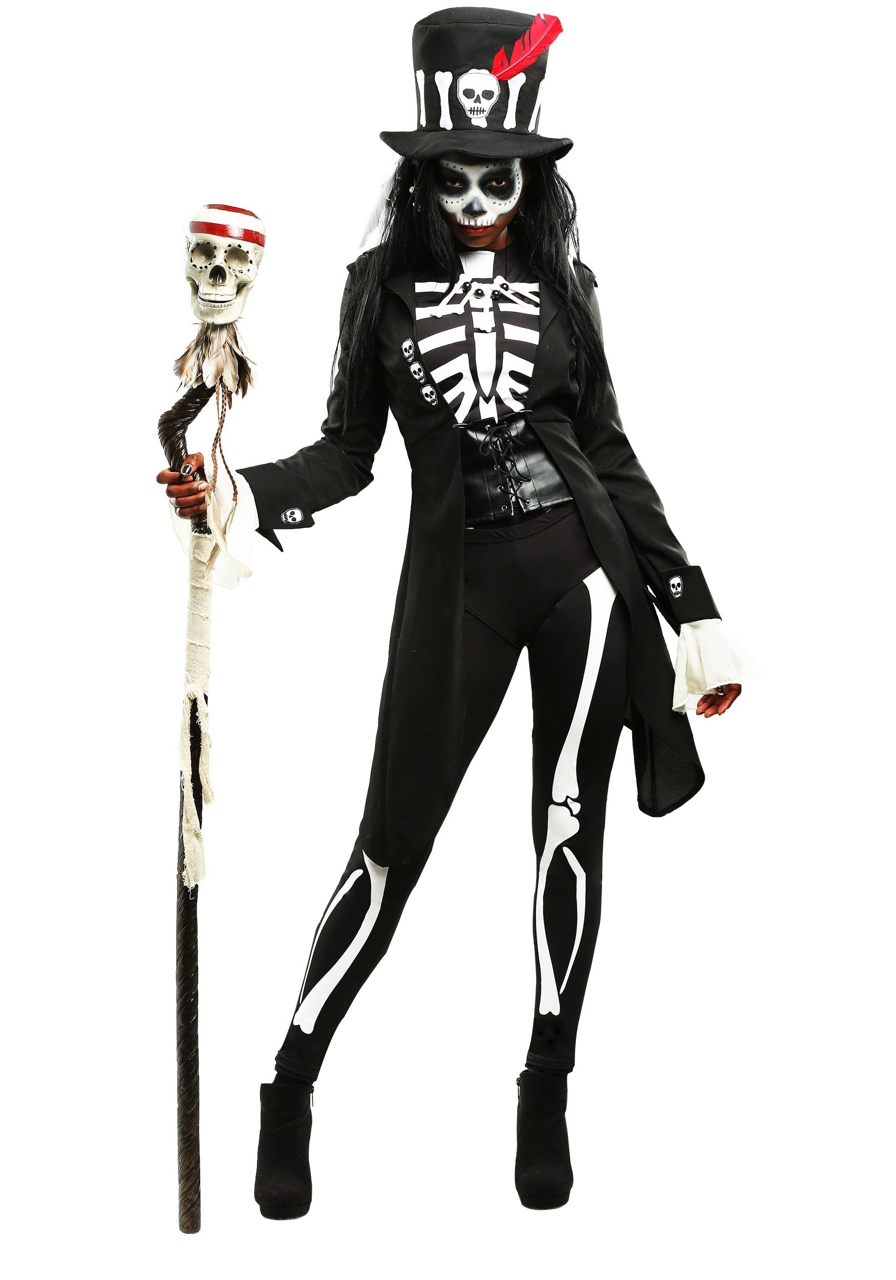 10 Spectacular Scary Halloween Costume Ideas For Women voodoo skeleton costume for women 2020
