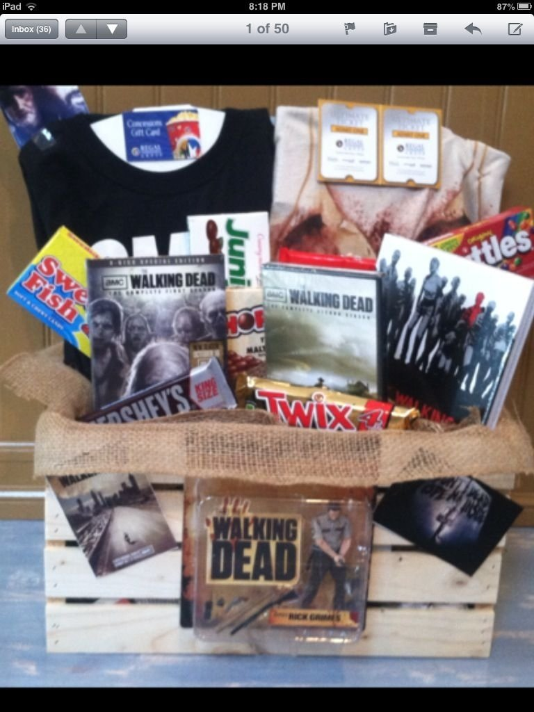 10 Fashionable The Walking Dead Gift Ideas walking dead gift basket this would be the ultimate gift for taylor 2020