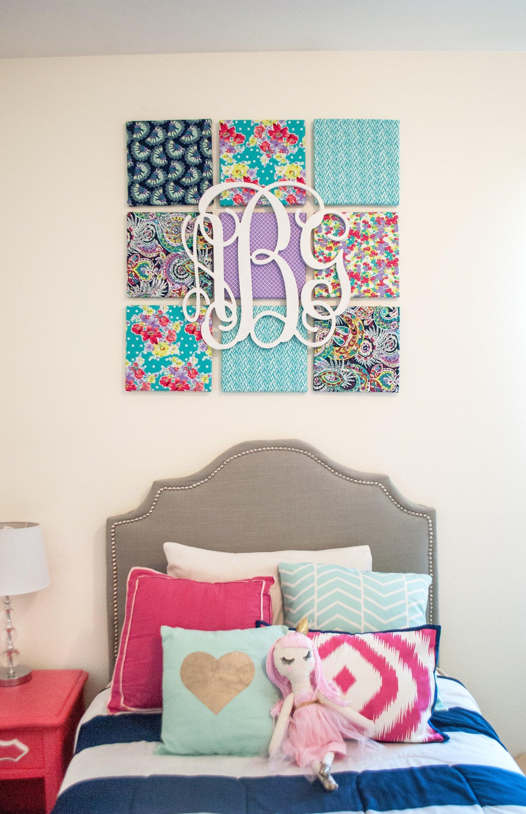10 Fantastic Diy Canvas Wall Art Ideas wall art decor ideas personalized initial named diy fabric 2020