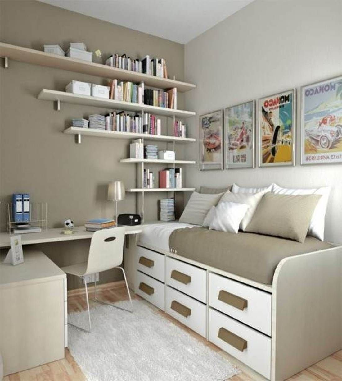 10 Nice Storage Ideas For Small Rooms wall mounted storage ideas for small bedrooms space saving storage 2020