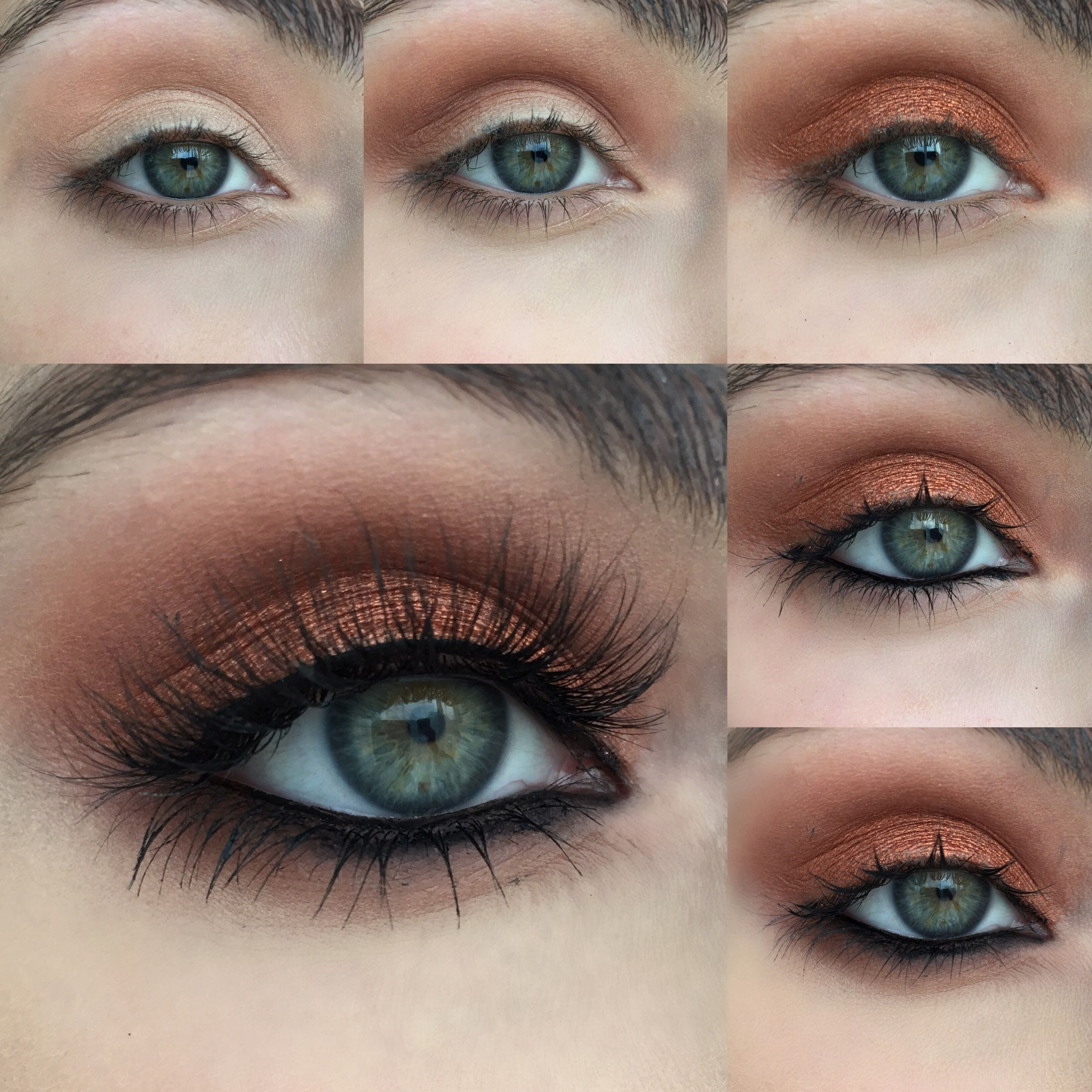 10 Nice Eyeshadow Ideas For Green Eyes warm copper photo tutorial product list blue green and makeup