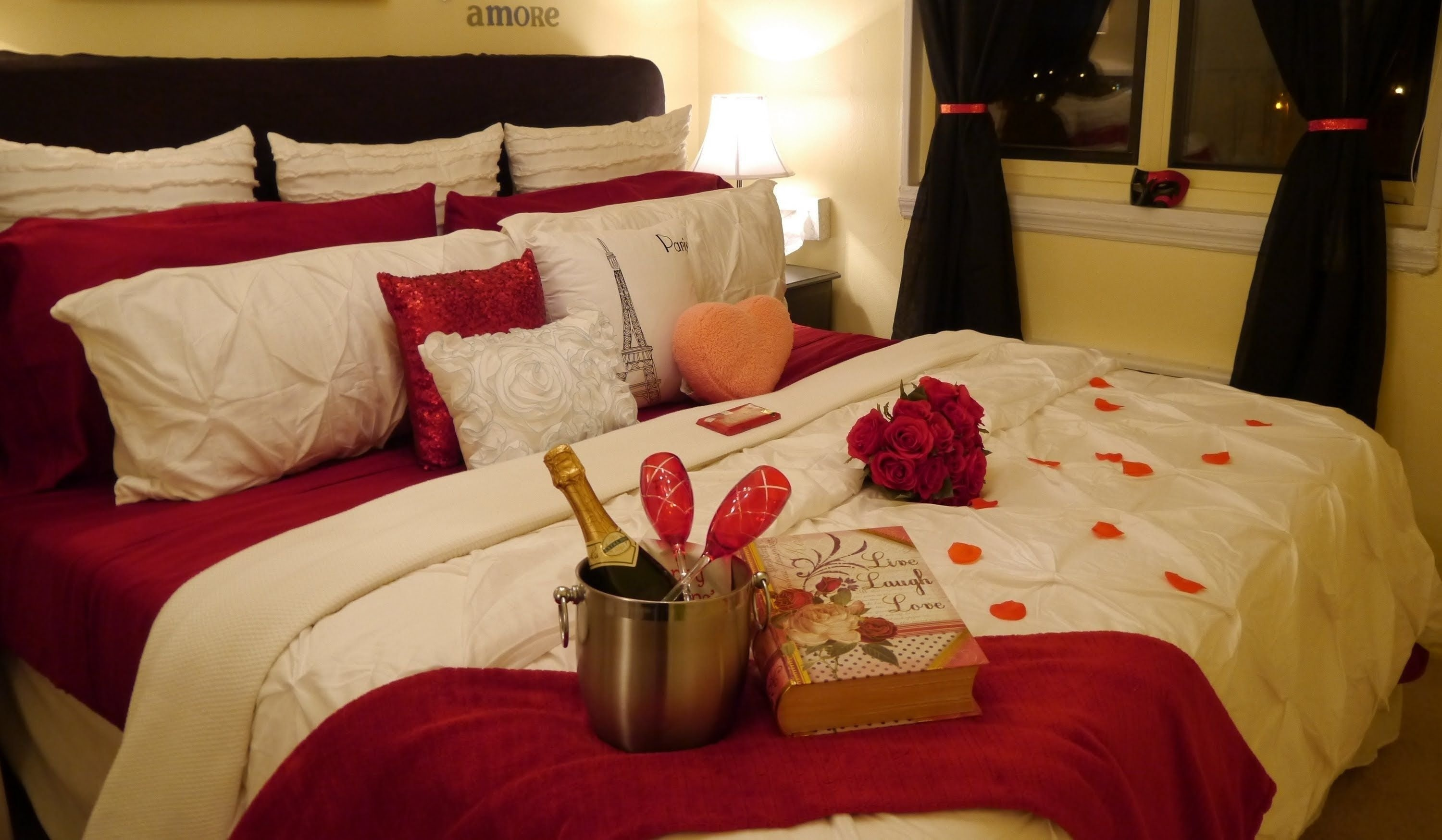10 Fabulous Ideas For A Romantic Night In A Hotel warm romantic bedroom decoration ideas bedrooms decoration and 2020