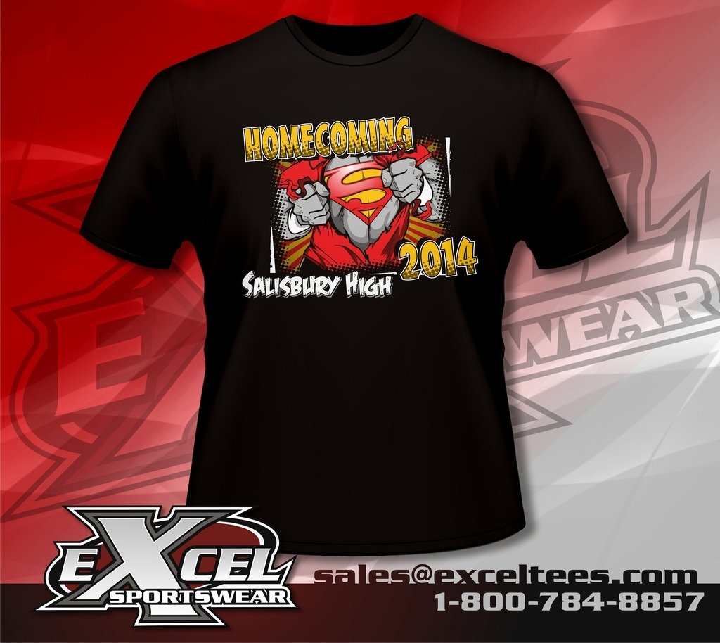 we design your custom homecoming shirts - excel sportswear