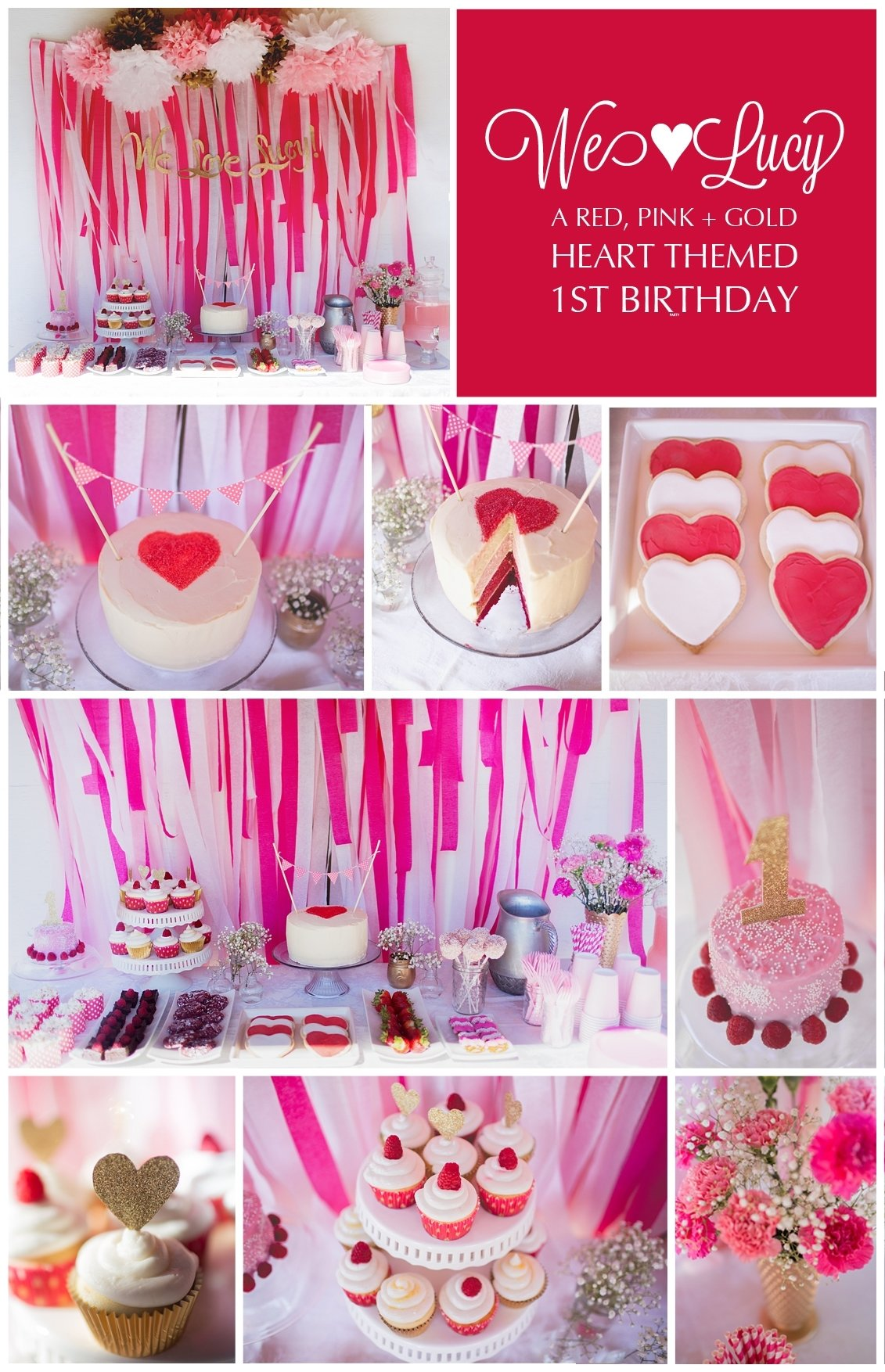 10 Cute Girl Birthday Party Ideas Pinterest we love lucy a first birthday party the titled blog