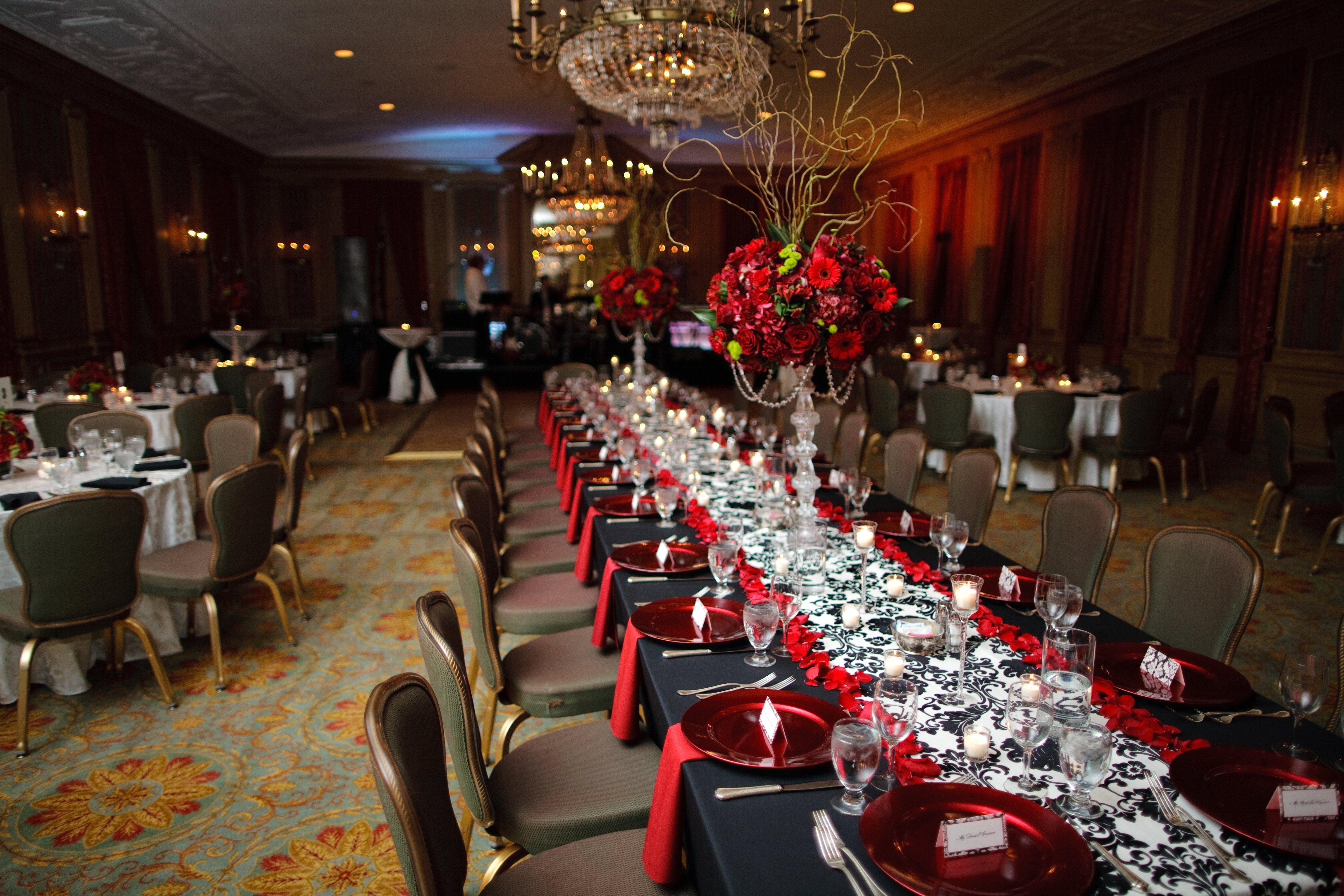10 Attractive Red And Black Wedding Ideas wedding ballroom ideas awesome wedding ideas amazing red white and 2021
