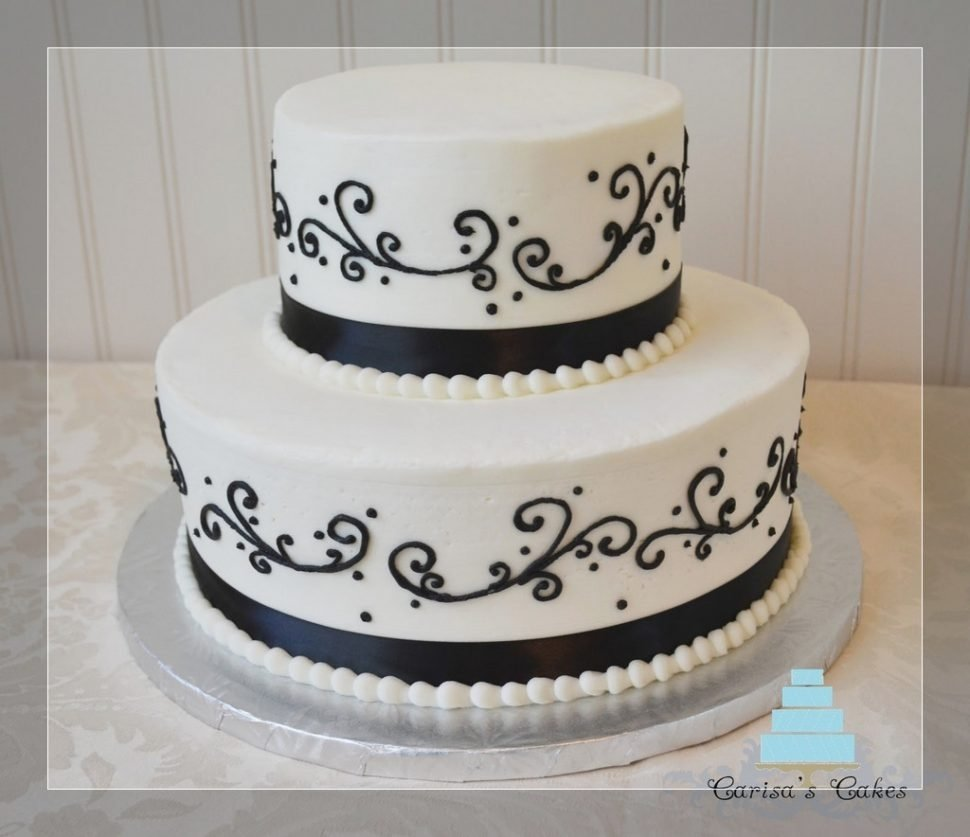wedding cake : black and white cake decorating ideas black and