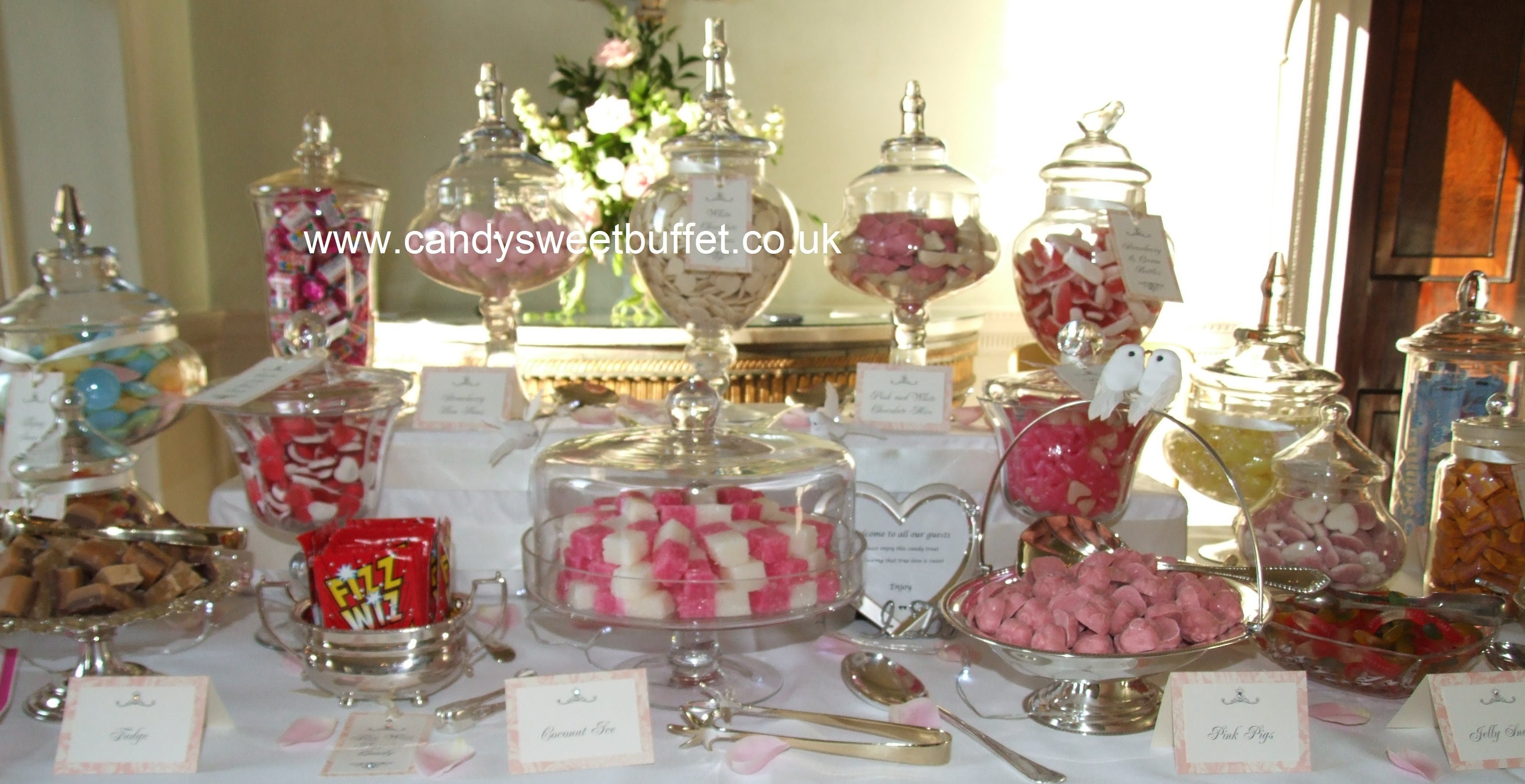10 Amazing Candy Bar Ideas For Weddings wedding candy sweet buffet table cart nottingham derby leeds 2020