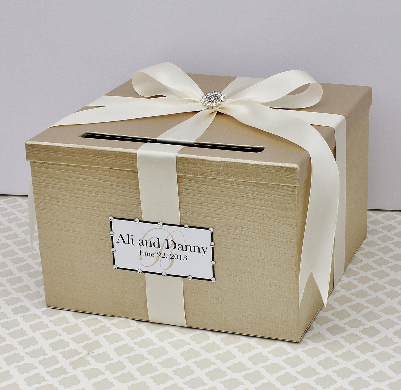 10 Unique Diy Wedding Card Box Ideas wedding card box champagne white lace card holder custom made