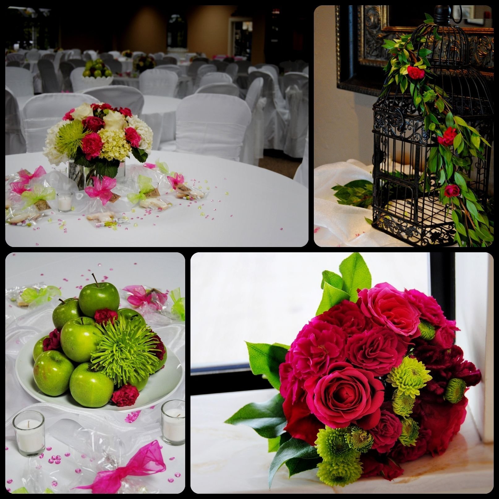 10 Awesome Pink And Green Wedding Ideas wedding centerpiece ideas green decorating of party 2020