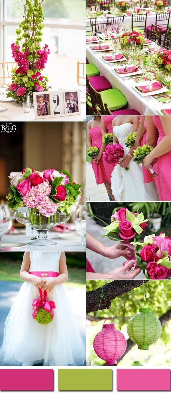 10 Awesome Pink And Green Wedding Ideas wedding colors trends for 2017 spring pink yarrow color combos 2020