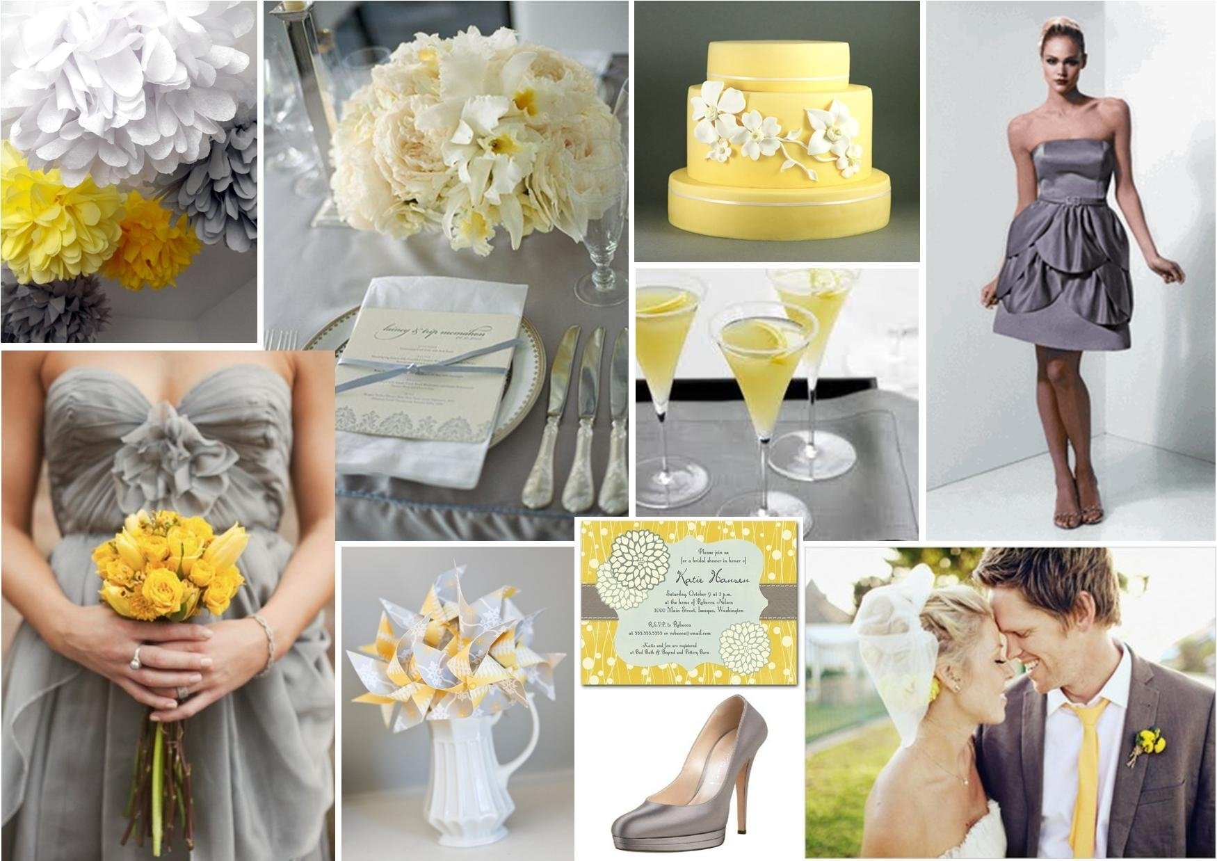 10 Cute Yellow And Gray Wedding Ideas wedding decor best yellow and grey wedding decorations to suit 1
