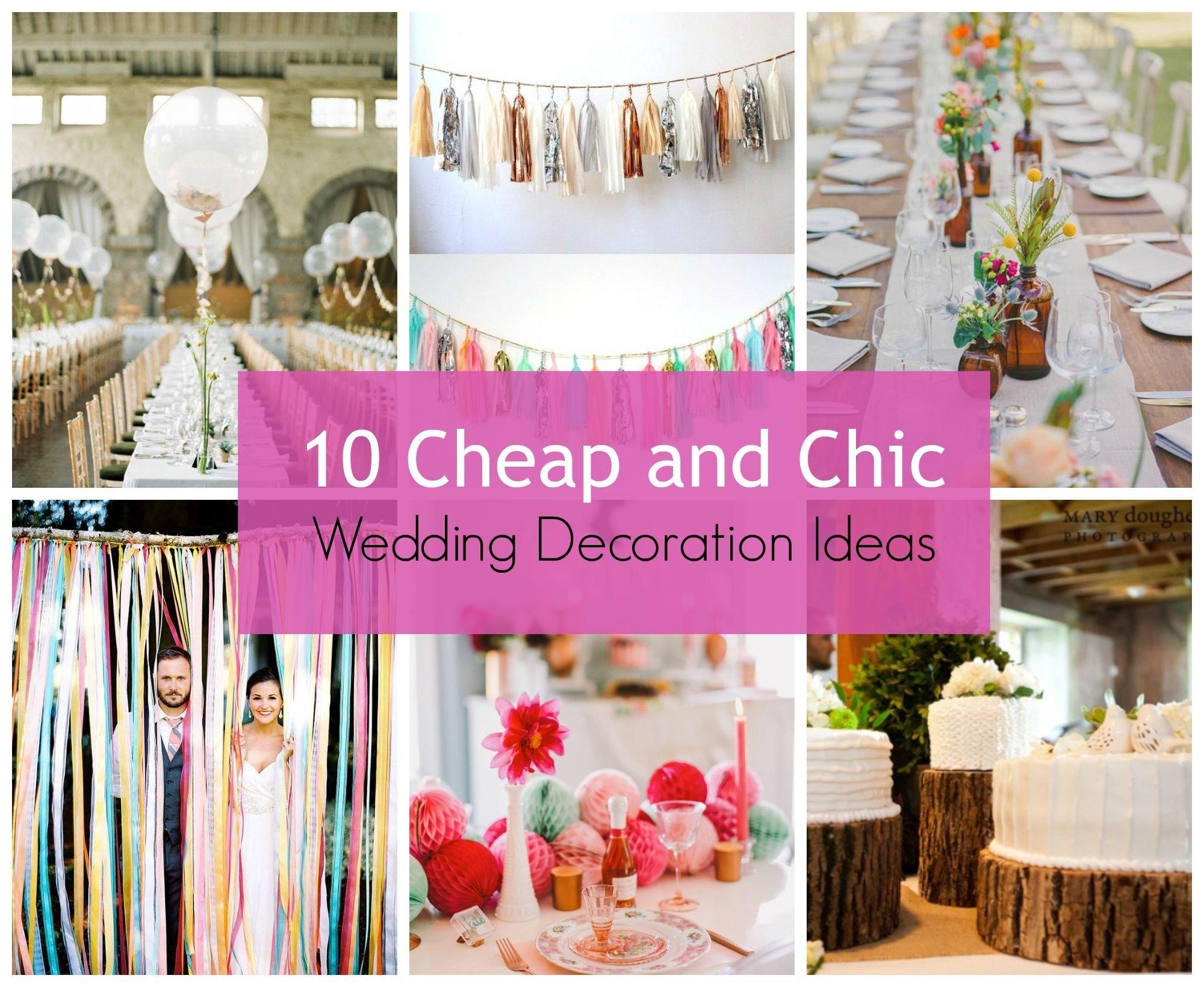 10 Pretty Creative Wedding Ideas On A Budget wedding decor simple wedding decorating ideas on a budget a 2020