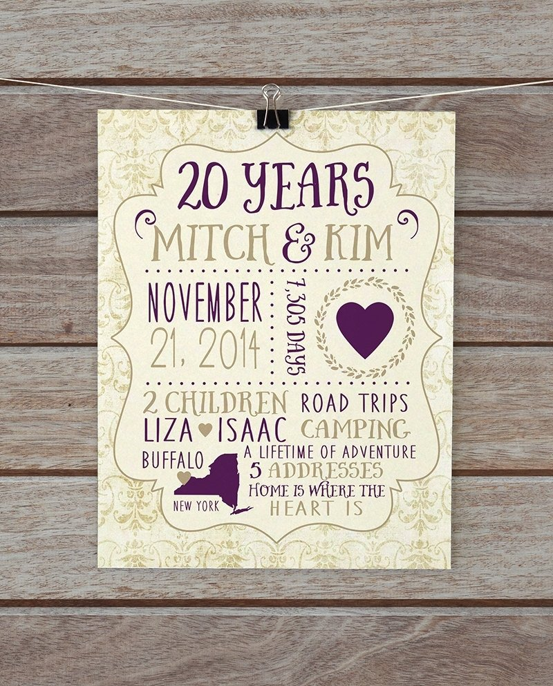 10 Fantastic 20Th Anniversary Gift Ideas For Wife wedding gift awesome gifts for a 20th wedding anniversary 2018 2020